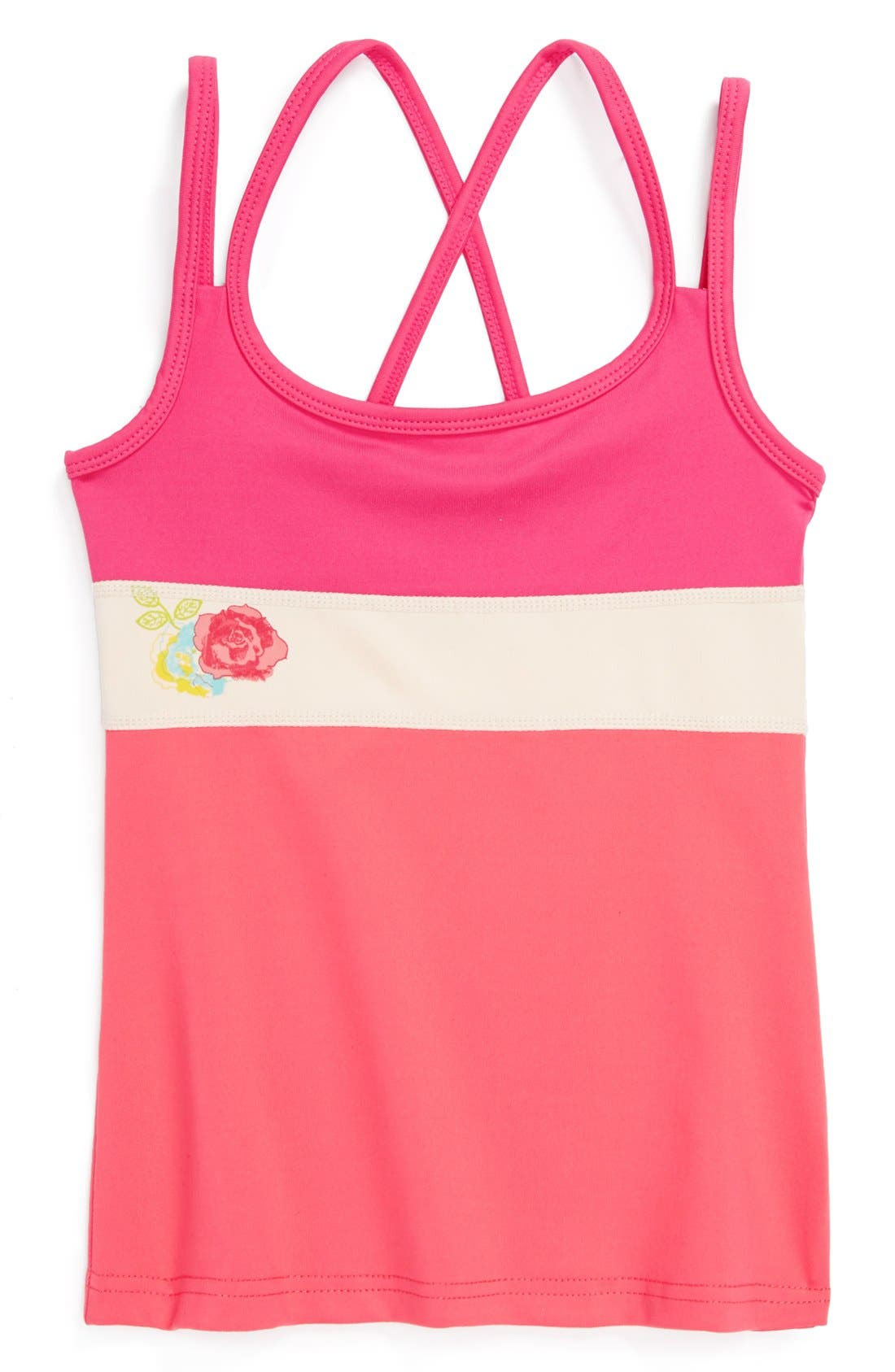Alternate Image 1 Selected - Limeapple Cross Back Tank Top (Little Girls & Big Girls)