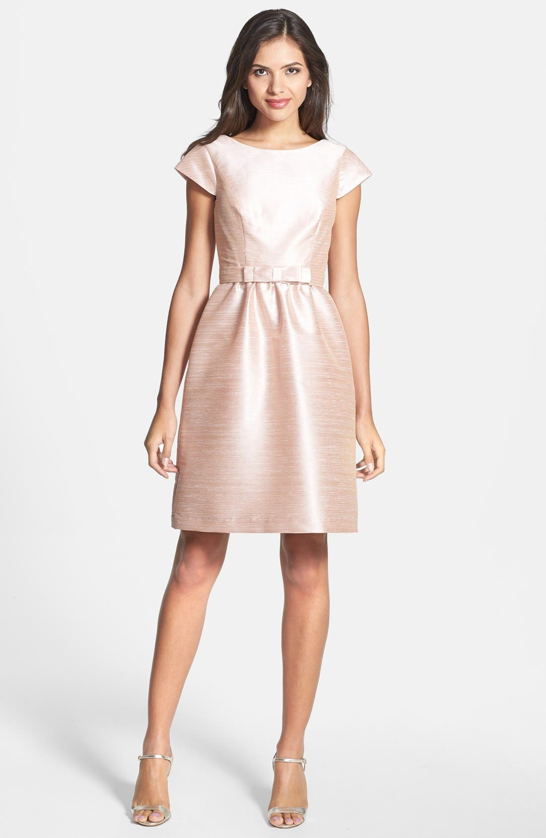 Alternate Image 1 Selected - Alfred Sung Woven Fit & Flare Dress