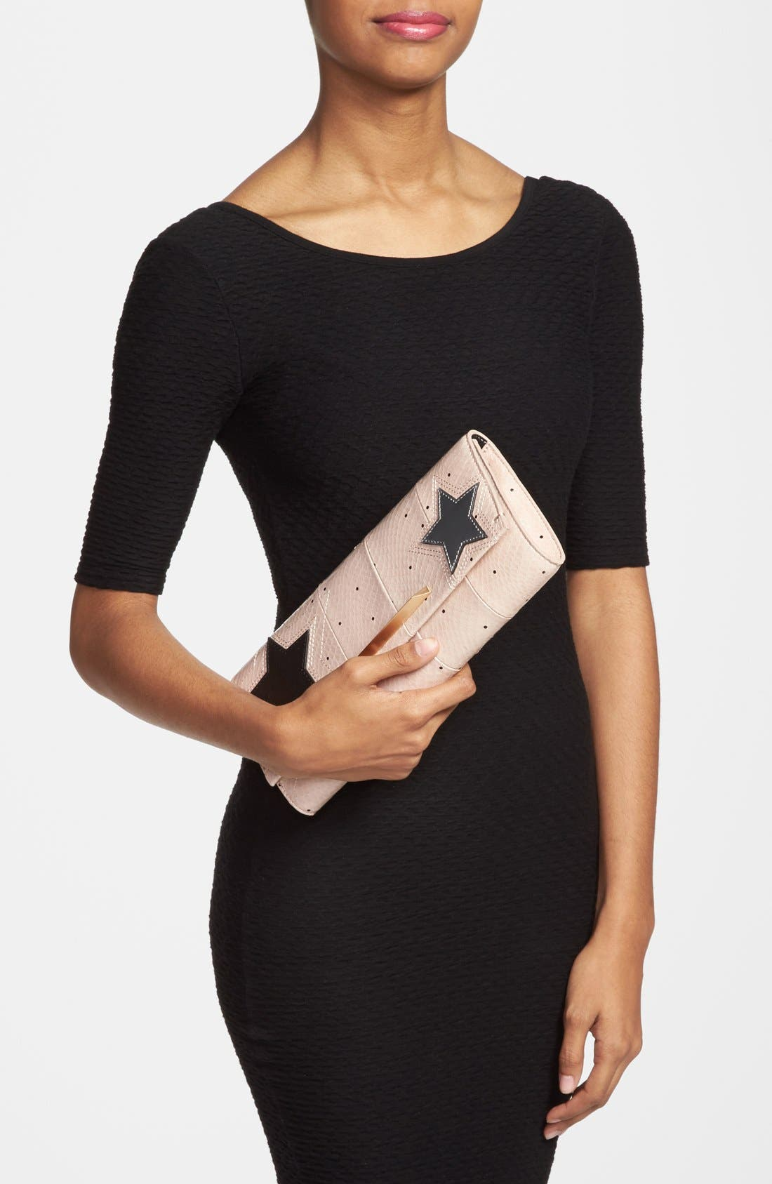 Alternate Image 2  - B Brian Atwood 'Ingrid' Snake Embossed Leather Clutch