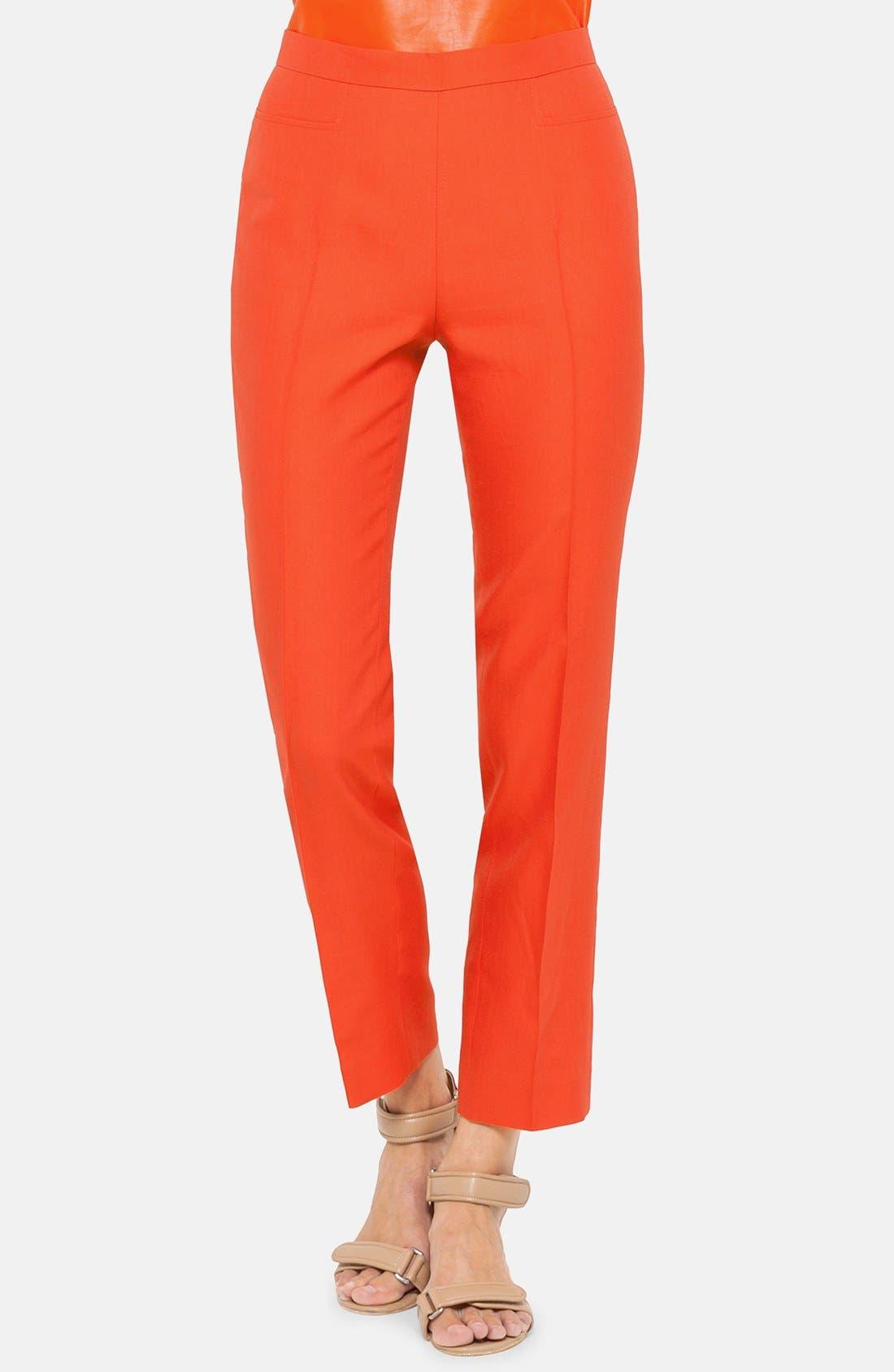 Alternate Image 1 Selected - Akris punto 'Franca' Slim Techno Cotton Crop Pants