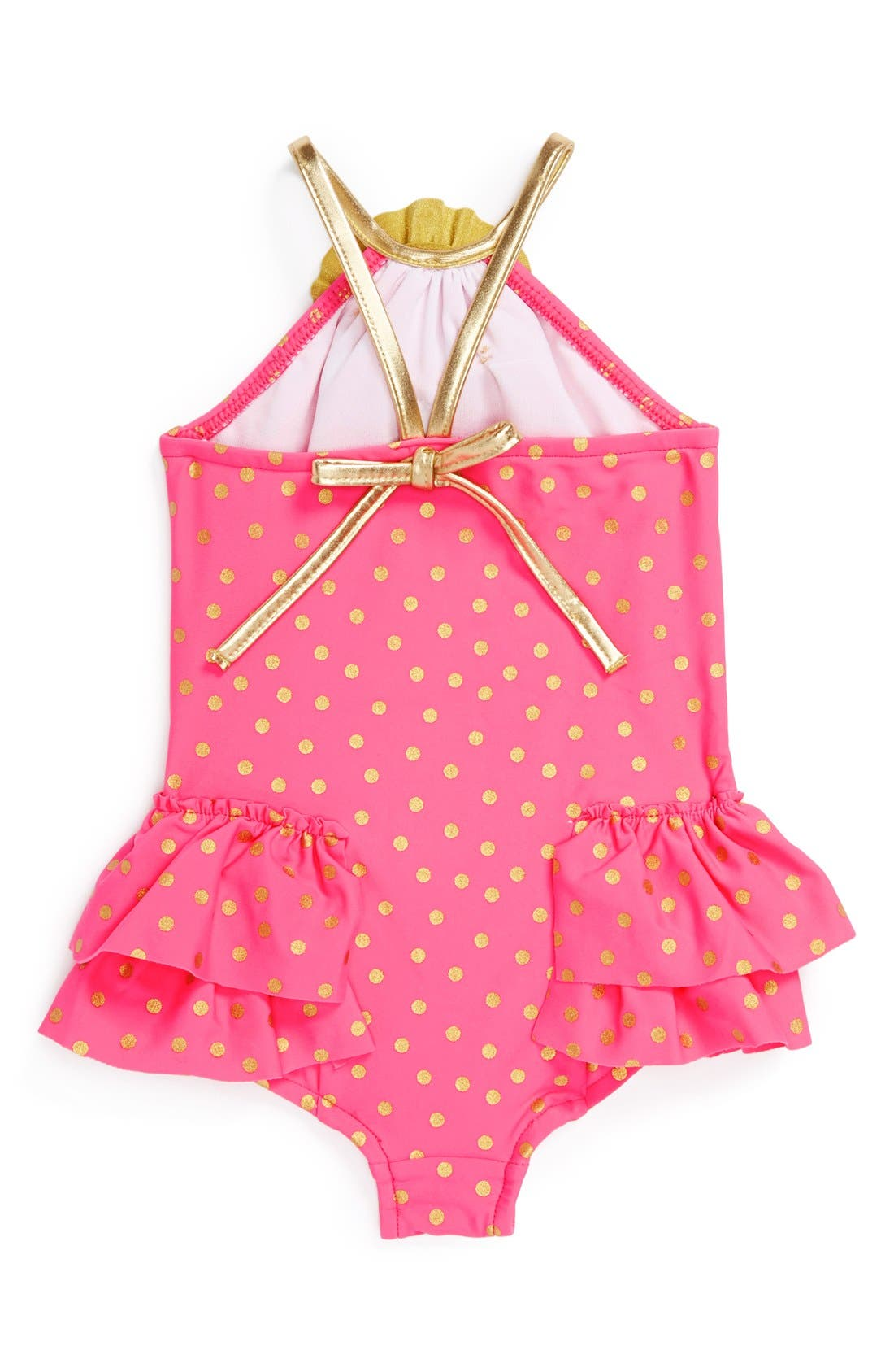 Alternate Image 2  - Love U Lots One-Piece Swimsuit (Toddler Girls)(Online Only)