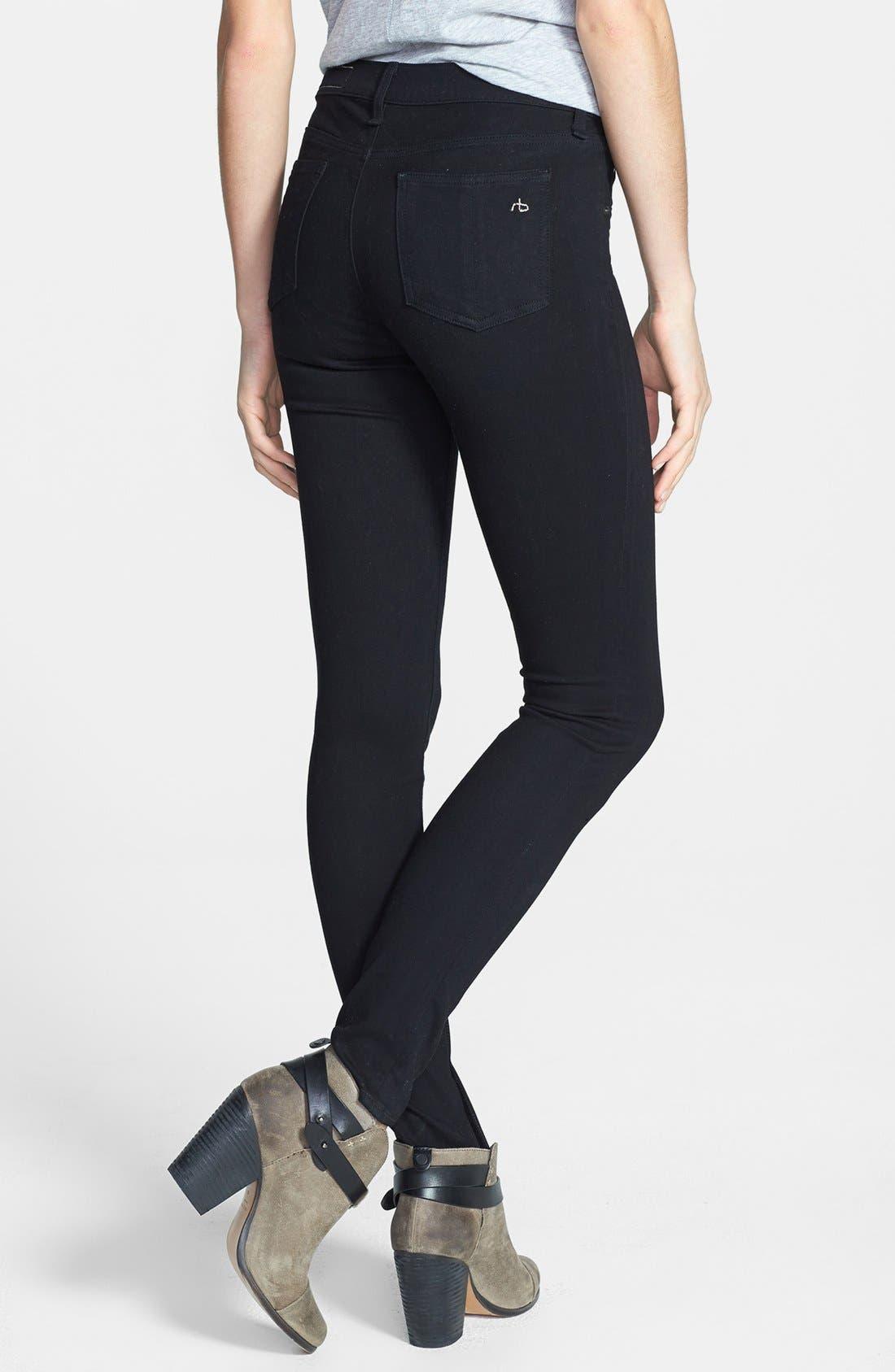 Alternate Image 2  - rag & bone/JEAN Plush Twill Leggings