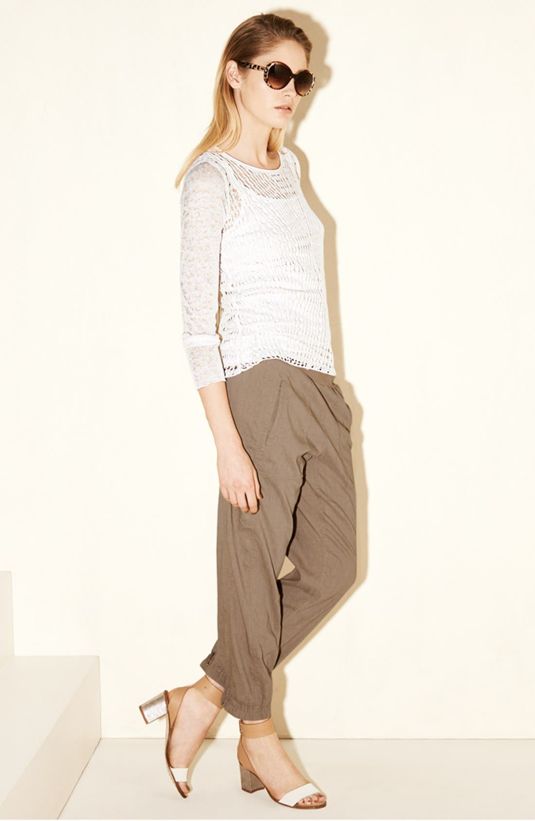 Alternate Image 4  - Eileen Fisher Organic Linen Scoop Neck Top (Plus Size)