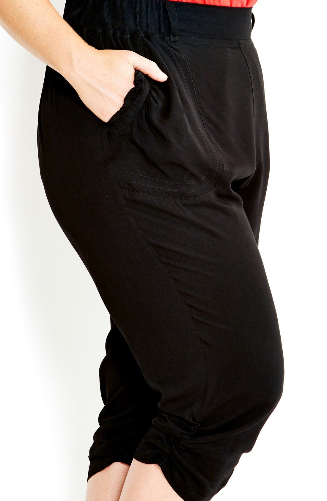 Alternate Image 3  - City Chic 'Drapey' Knit Harem Pants (Plus Size)