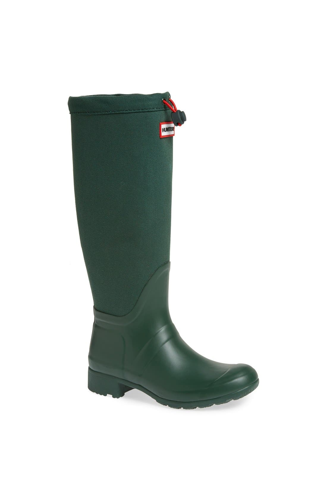 Alternate Image 1 Selected - Hunter 'Tour' Packable Canvas Rain Boot (Women)