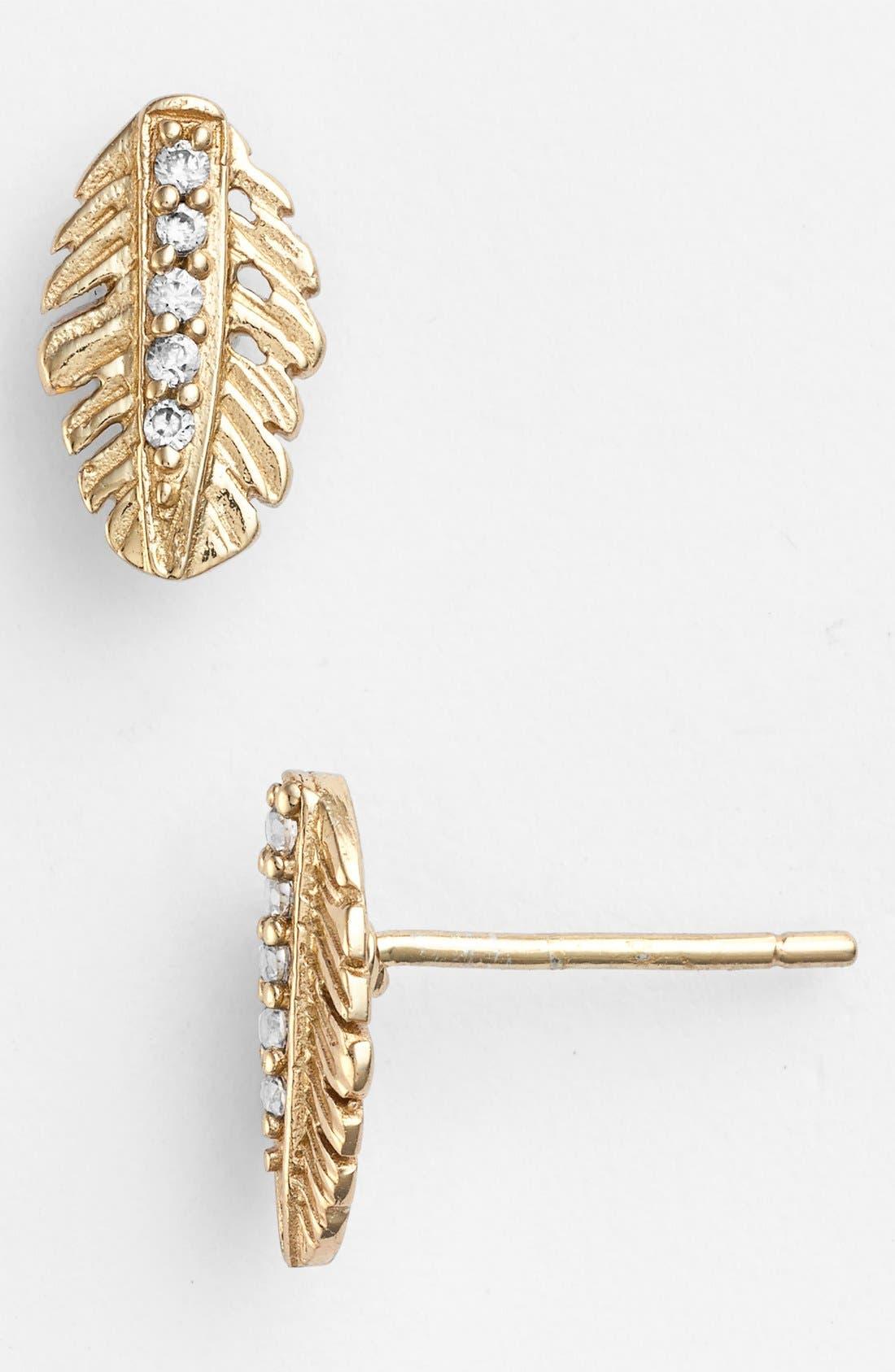 Alternate Image 1 Selected - Melinda Maria 'Nina' Feather Stud Earrings
