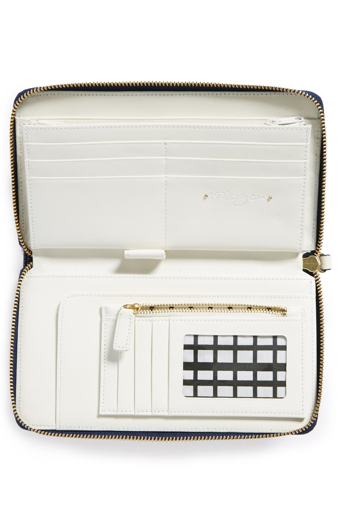 Alternate Image 2  - Halogen® Patent Leather Zip-Around Wallet
