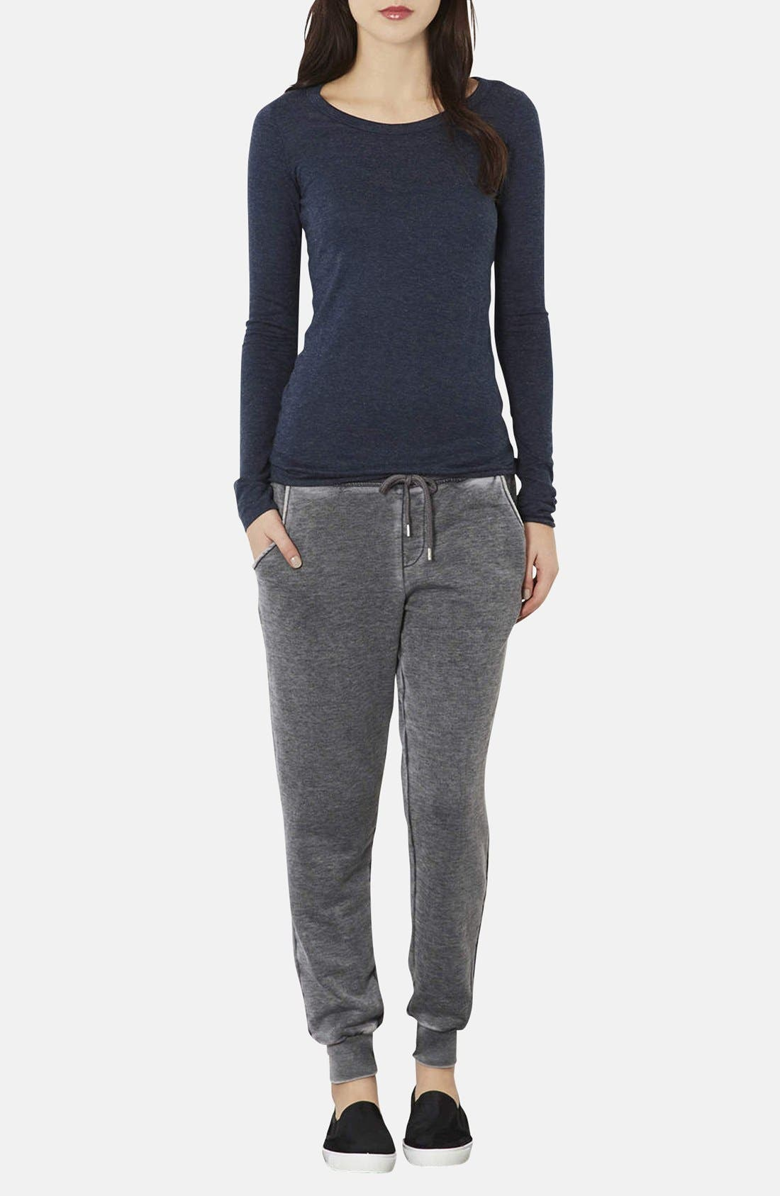 Alternate Image 4  - Topshop Faded Cotton Blend Track Pants