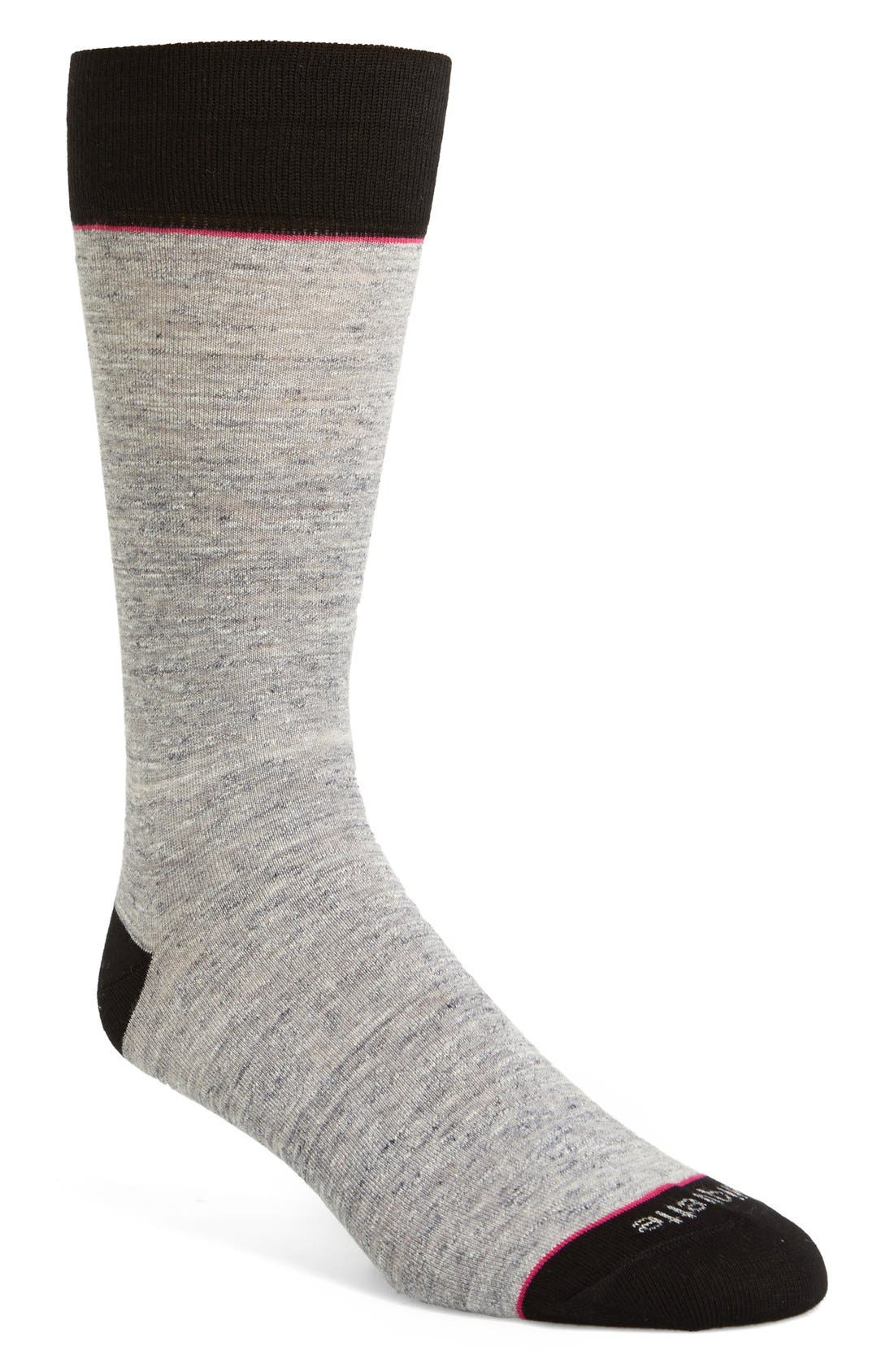 Alternate Image 1 Selected - Etiquette Clothiers Slubby Socks