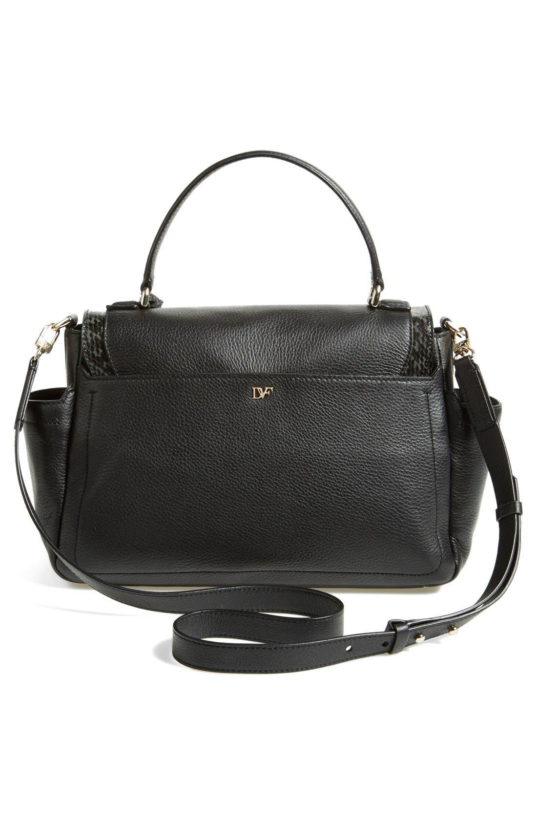 Alternate Image 4  - Diane von Furstenberg '440 Courier' Leather Top Handle Satchel
