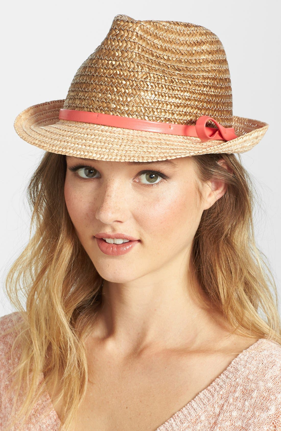 Alternate Image 1 Selected - Nordstrom Two-Tone Straw Fedora