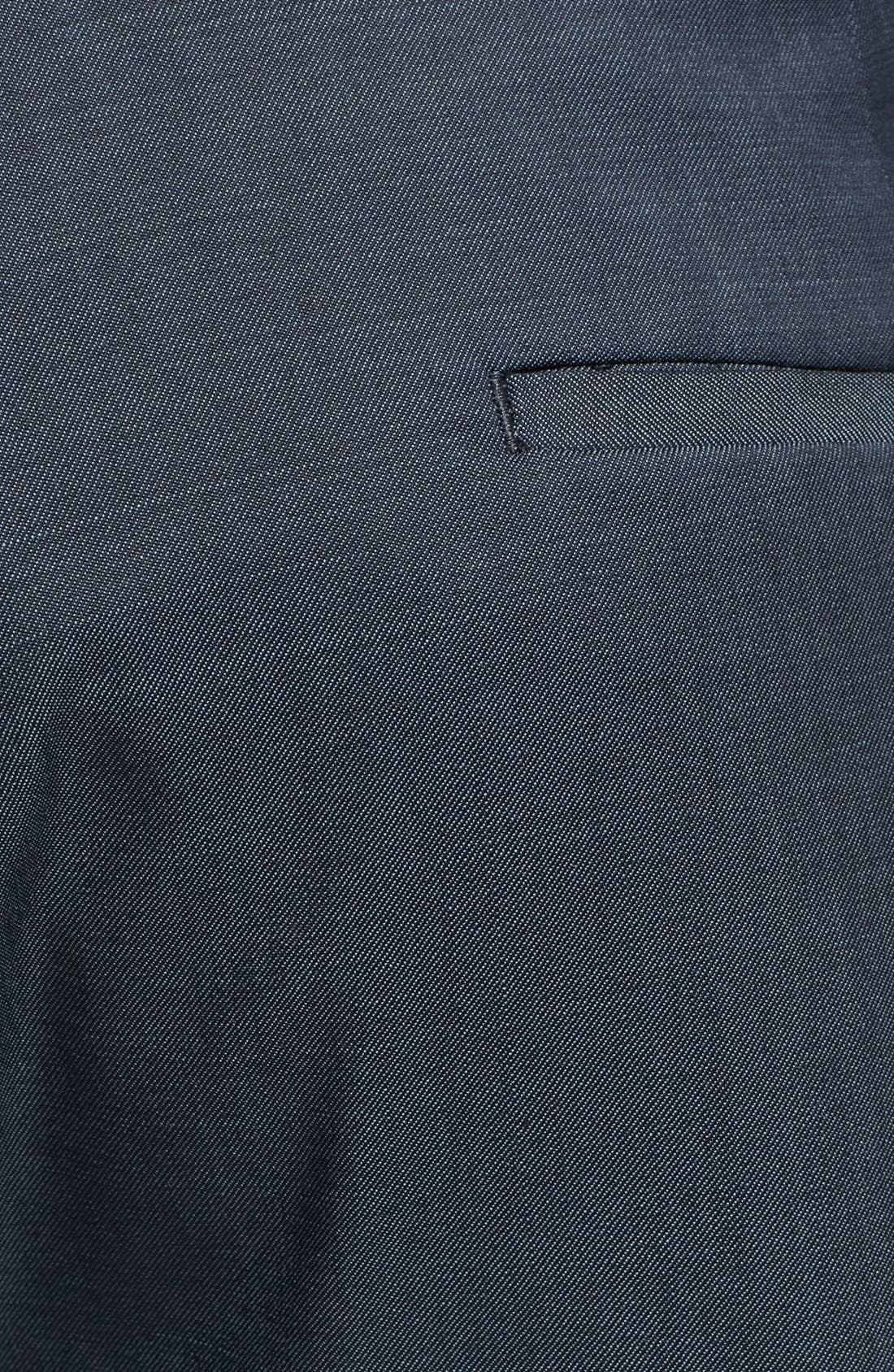 Alternate Image 3  - Topman Skinny Fit Navy Suit Trousers