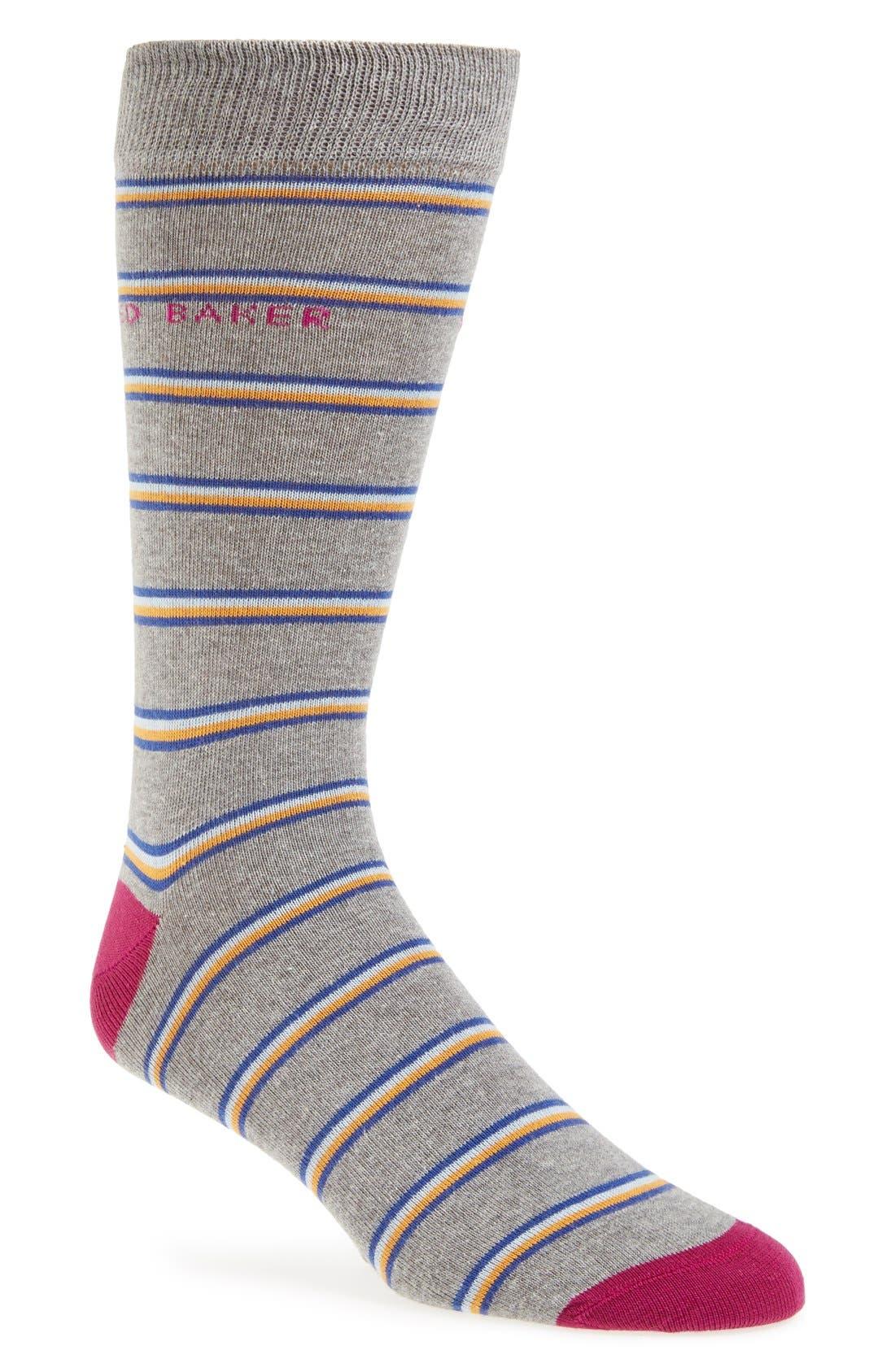 Main Image - Ted Baker London 'Bisskit' Stripe Socks