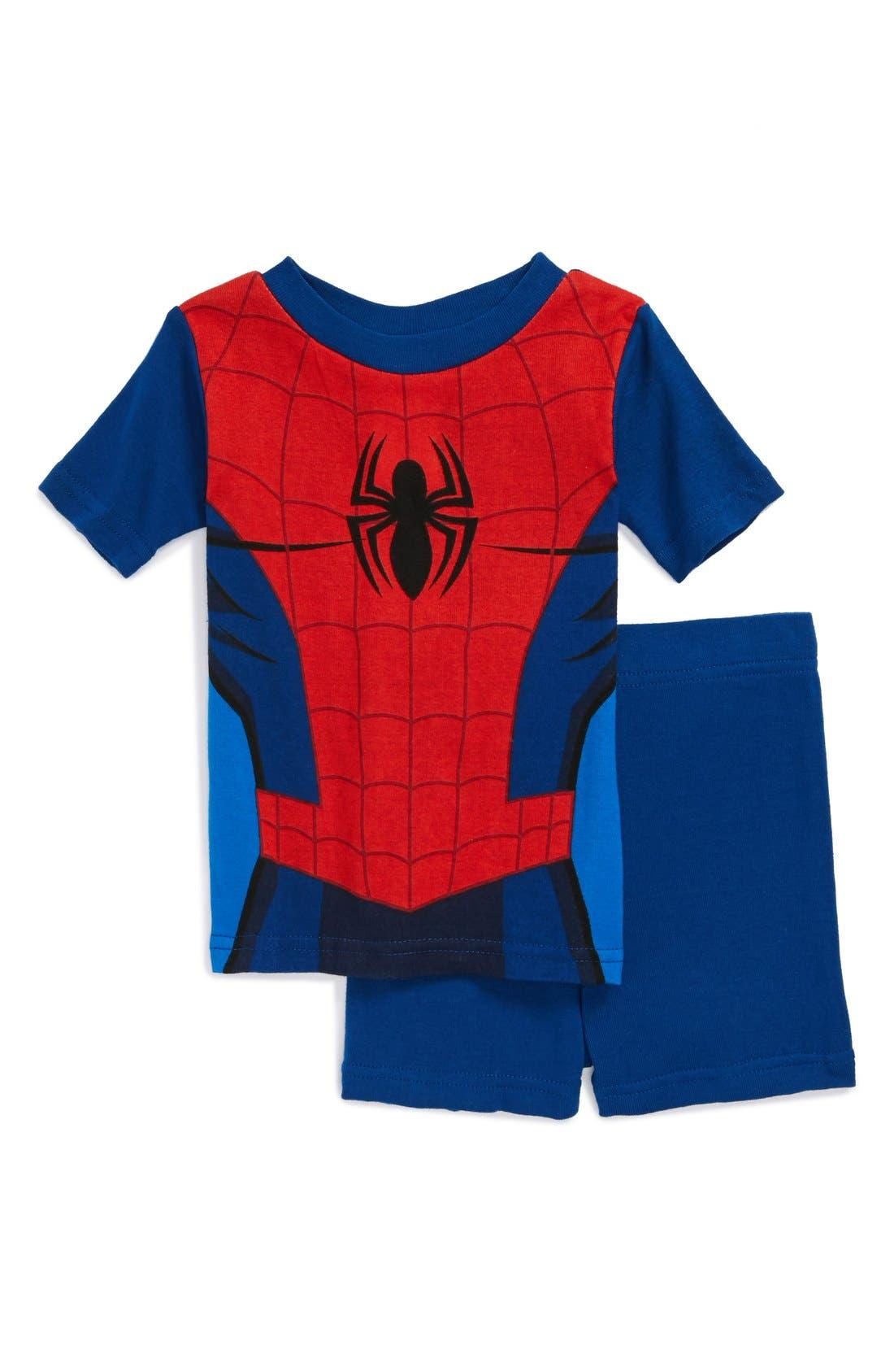 Alternate Image 1 Selected - Warner Brothers™ 'Spiderman™' Pajama Set (Toddler Boys)