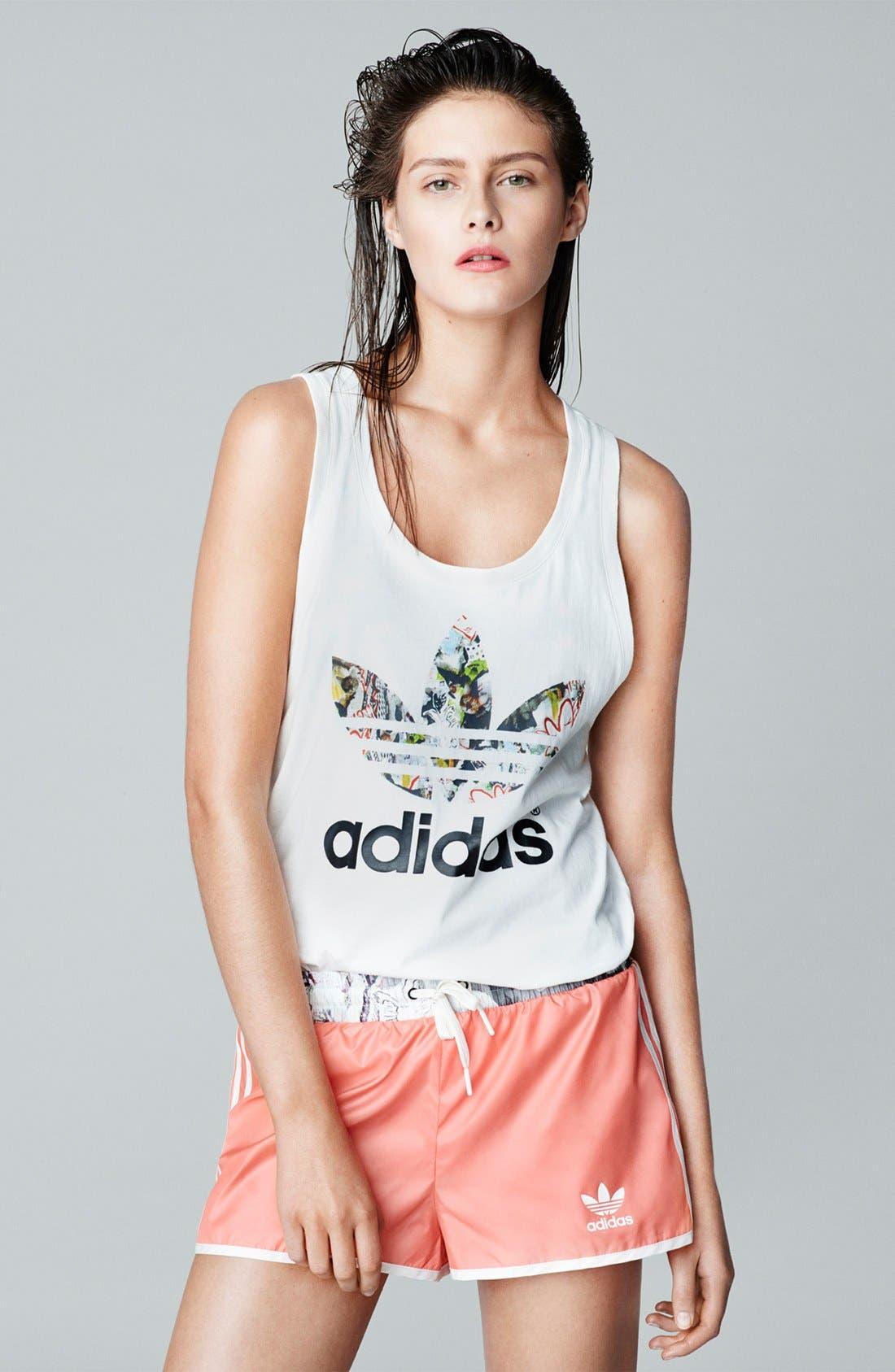 Alternate Image 6  - Topshop x adidas Originals Orange Shorts