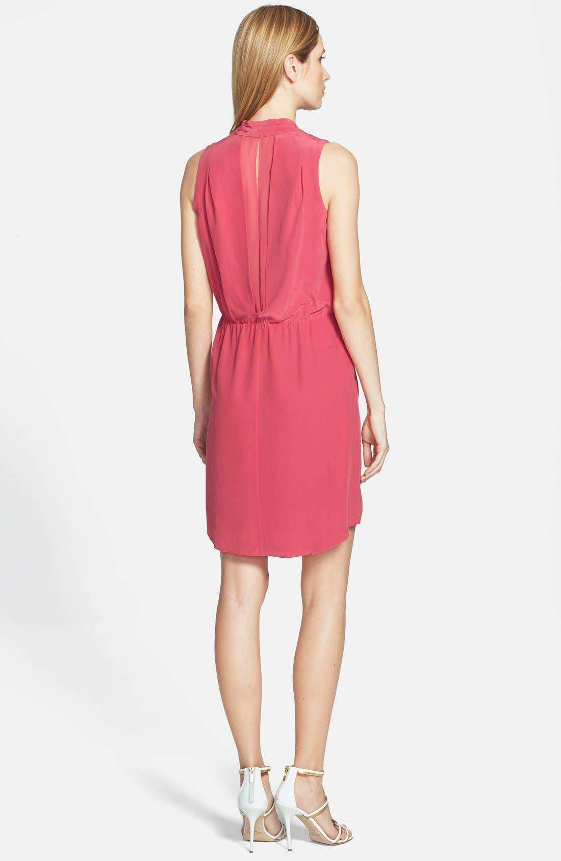 Alternate Image 2  - Rachel Roy Draped Silk Dress