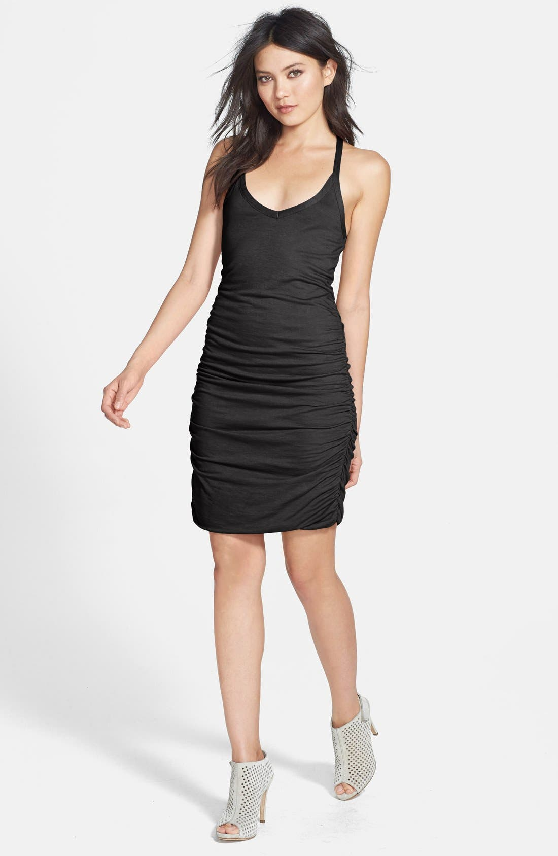 Main Image - Splendid Ruched Racerback Minidress