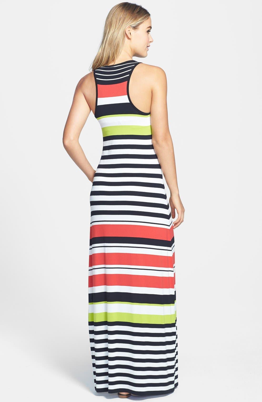 Alternate Image 2  - Vince Camuto Multi Stripe Maxi Dress