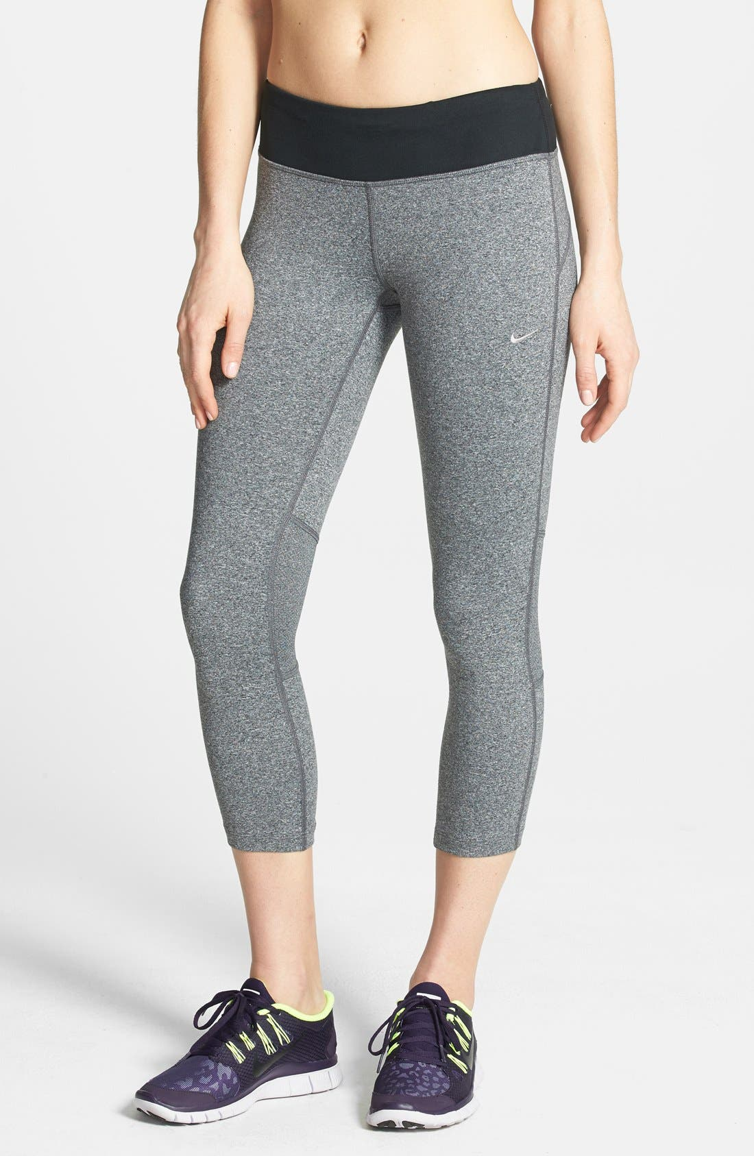 Alternate Image 1 Selected - Nike 'Epic Run' Crop Tights