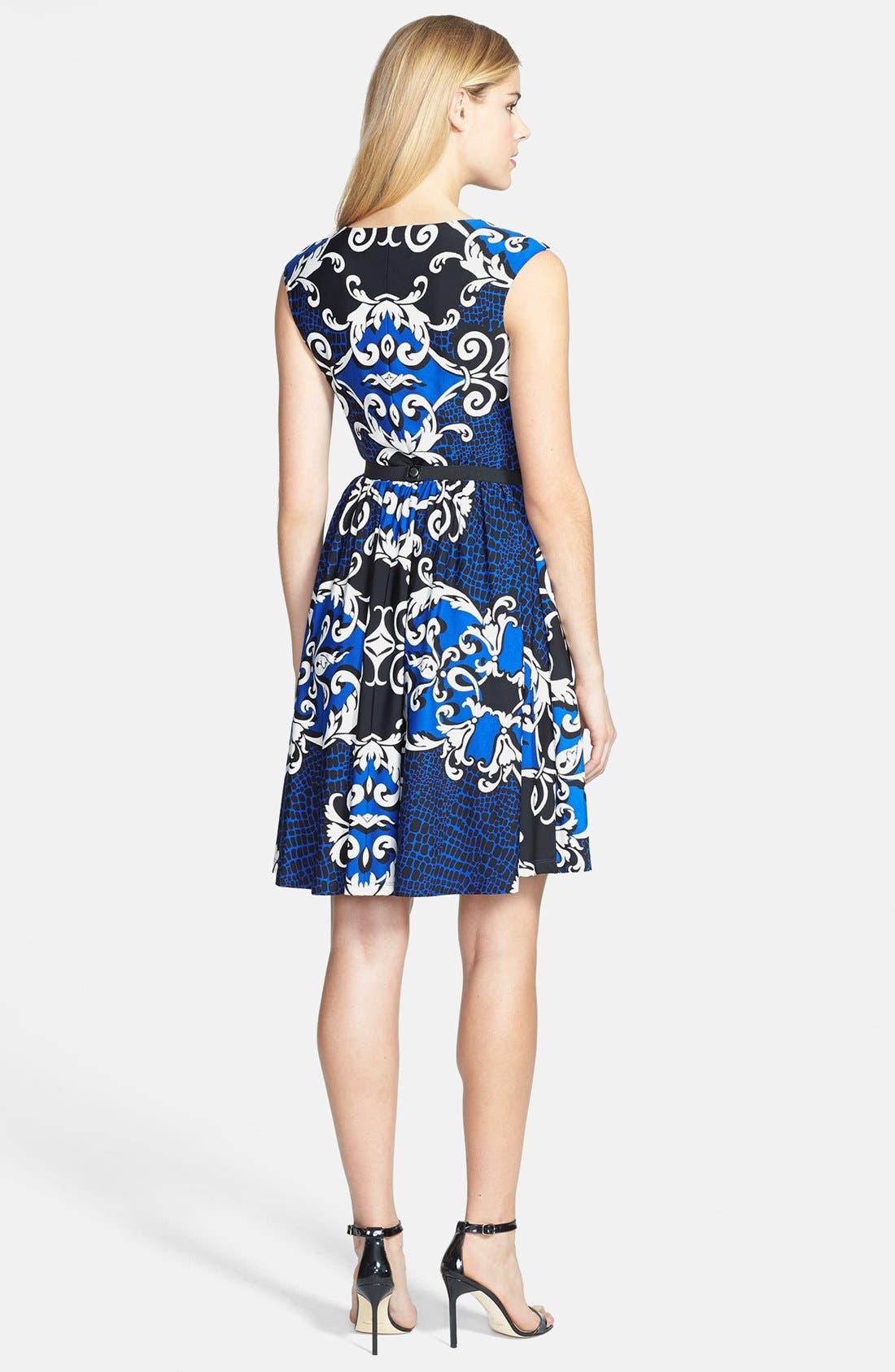 Alternate Image 3  - Ellen Tracy Print Jersey Fit & Flare Dress