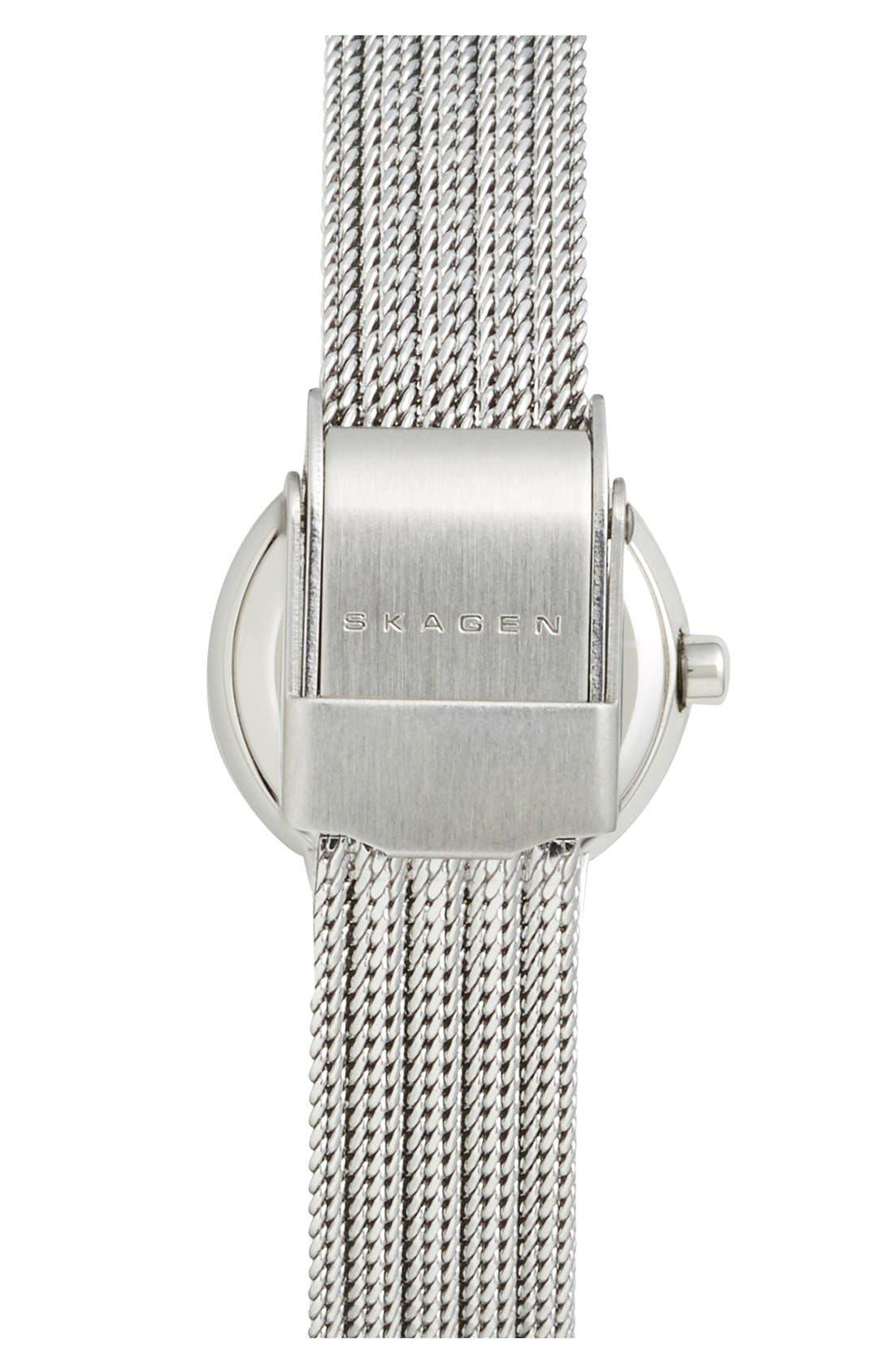 Alternate Image 2  - Skagen 'Leonora' Faceted Bezel Mesh Strap Watch, 20mm (Nordstrom Exclusive)