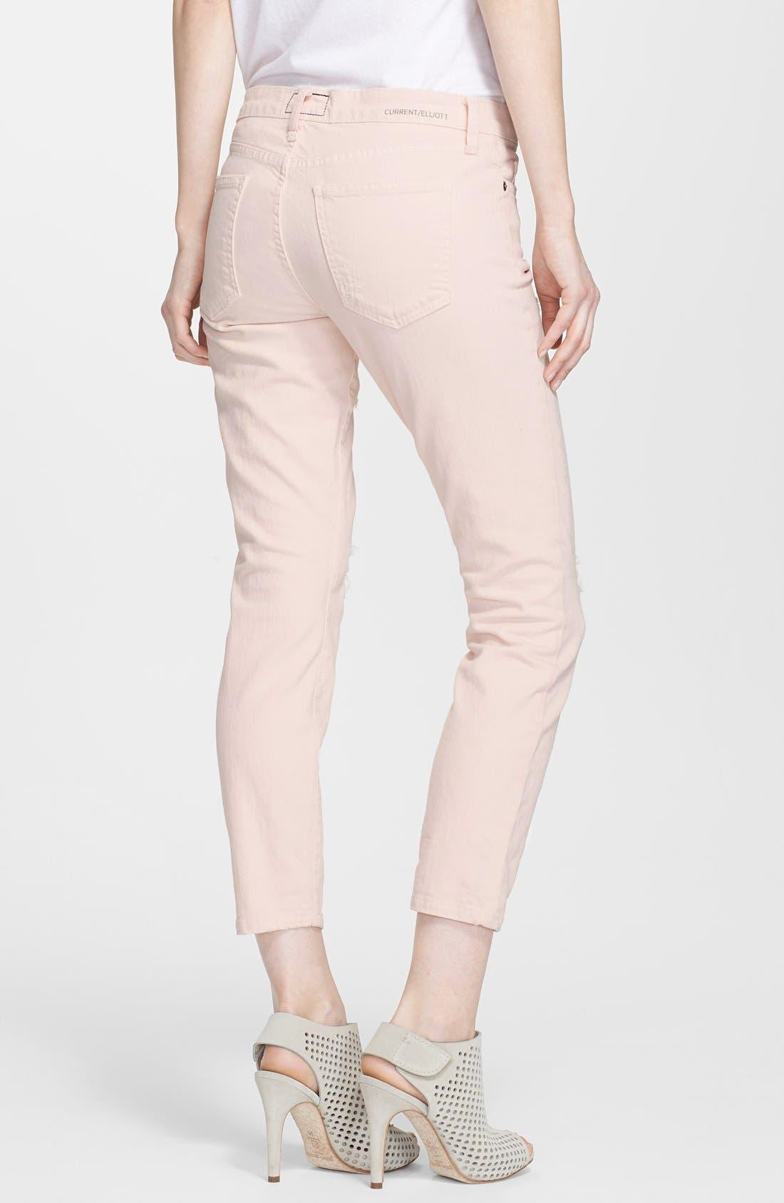 Alternate Image 2  - Current/Elliott 'The Stiletto' Jeans (Dusty Pink)