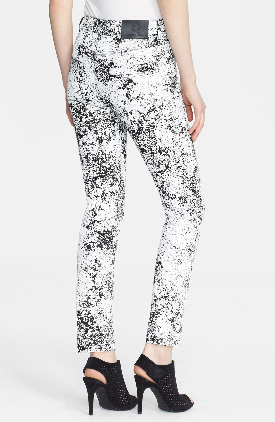 Alternate Image 2  - McQ by Alexander McQueen Print Skinny Jeans