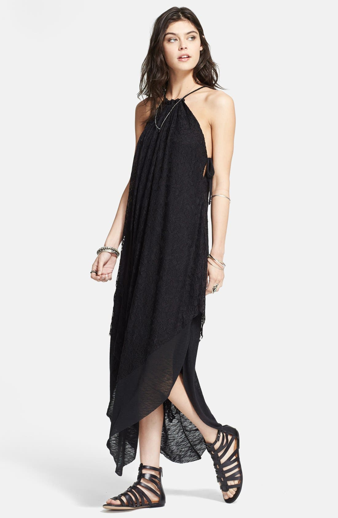 Main Image - Free People 'Olympia' Lace Overlay Maxi Dress