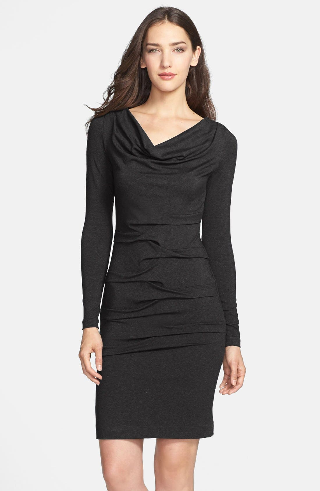 Alternate Image 1 Selected - Nicole Miller Ruched Jersey Body-Con Dress