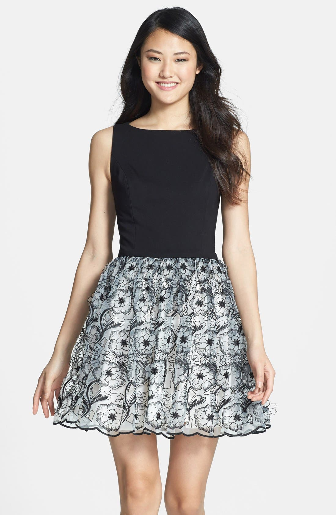 Main Image - ERIN erin fetherston 'Peony 3D' Fit & Flare Dress