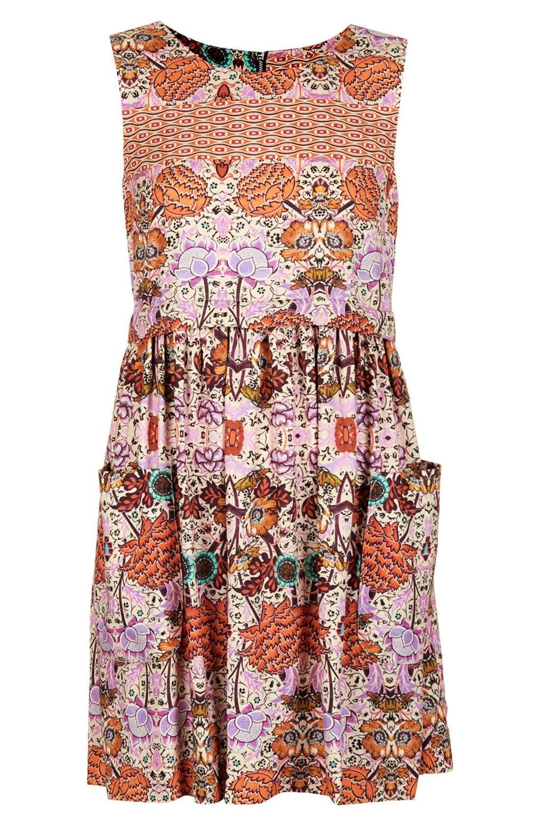 Alternate Image 3  - Topshop 'Folklore' Print Shift Dress