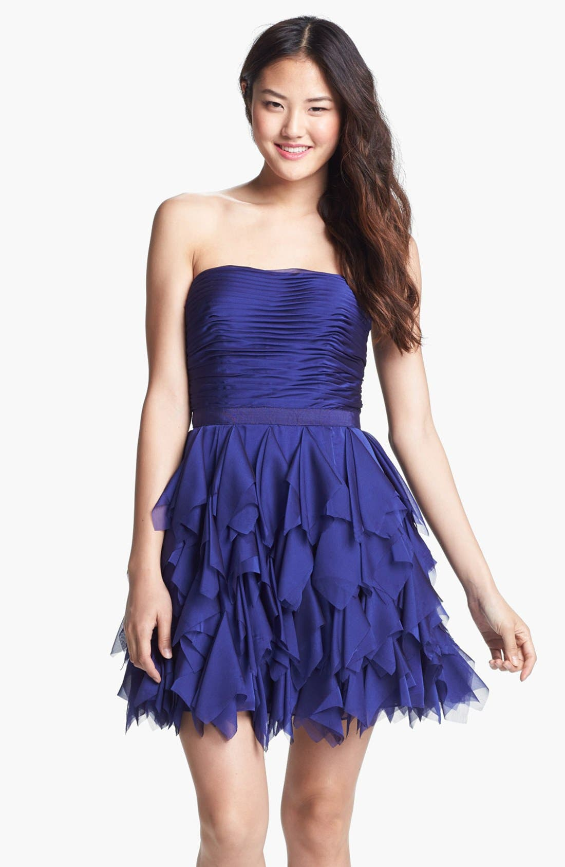 Alternate Image 1 Selected - Adrianna Papell Ruffled Cocktail Dress