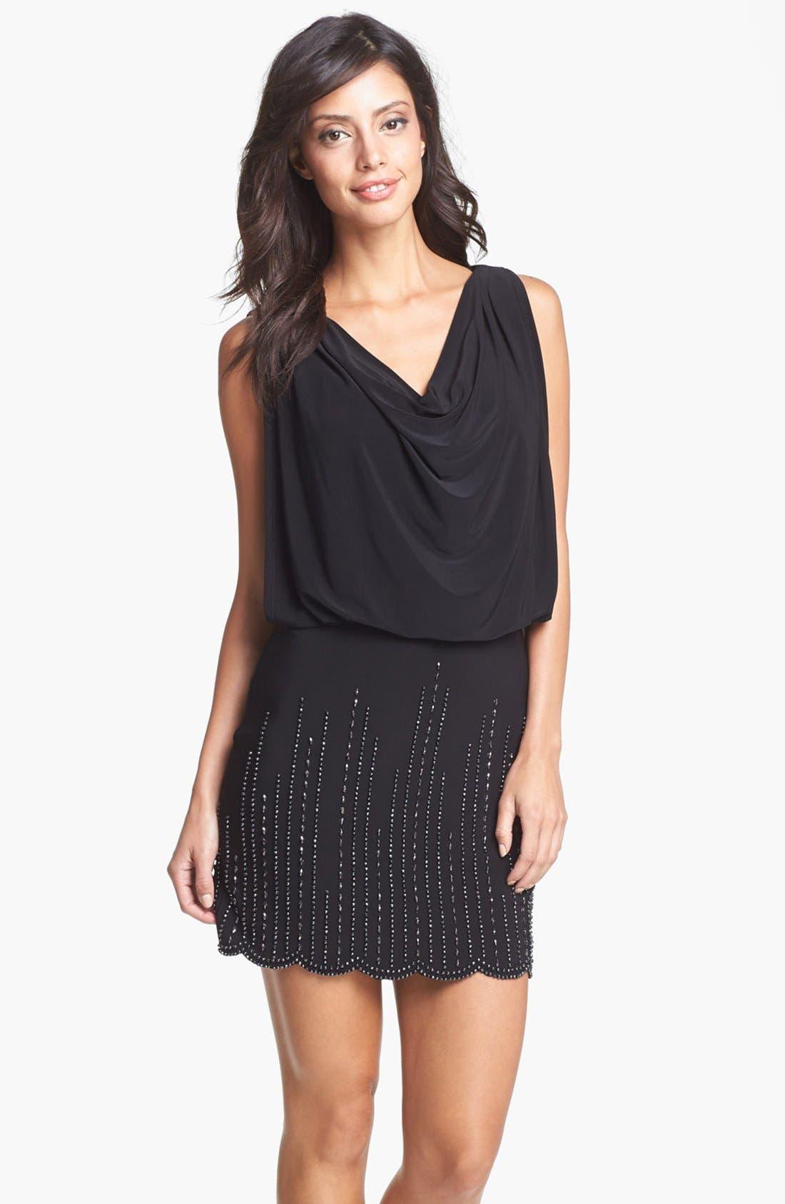 Main Image - Xscape Embellished Blouson Dress