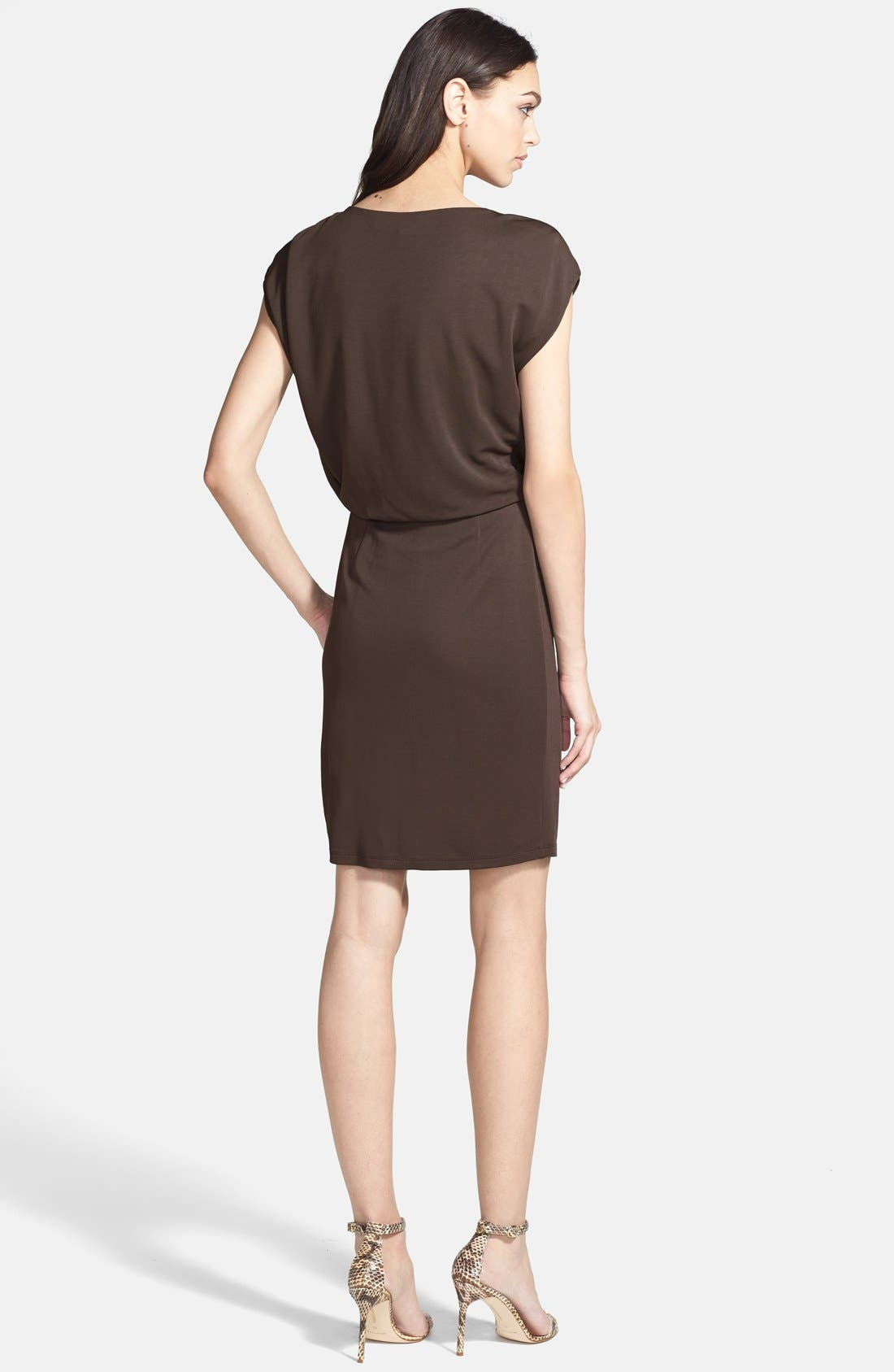 Alternate Image 2  - Halston Heritage Boatneck Jersey Blouson Dress