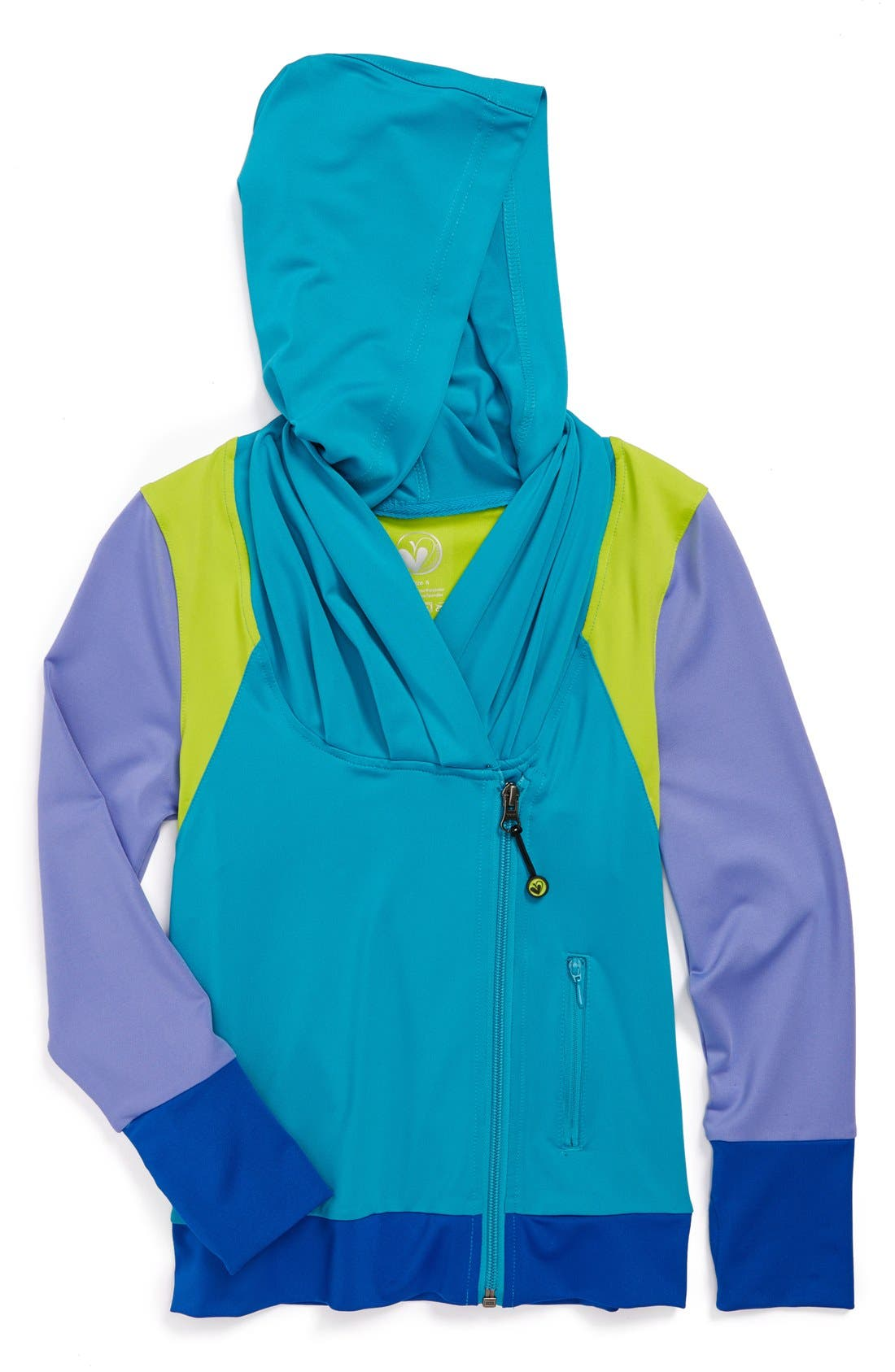 Alternate Image 1 Selected - Limeapple Asymmetrical Hoodie (Little Girls & Big Girls)