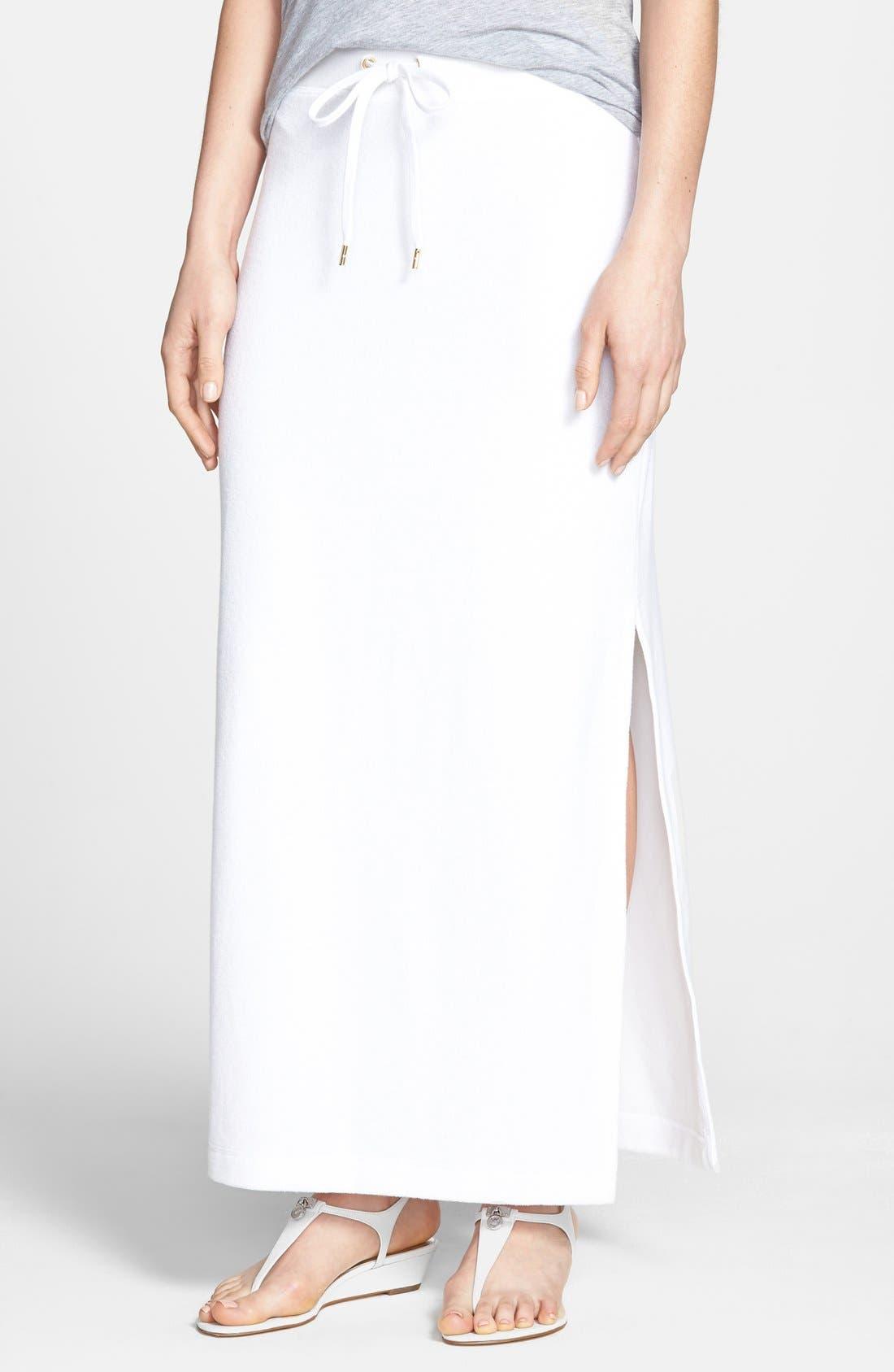 Main Image - MICHAEL Michael Kors French Terry Maxi Skirt