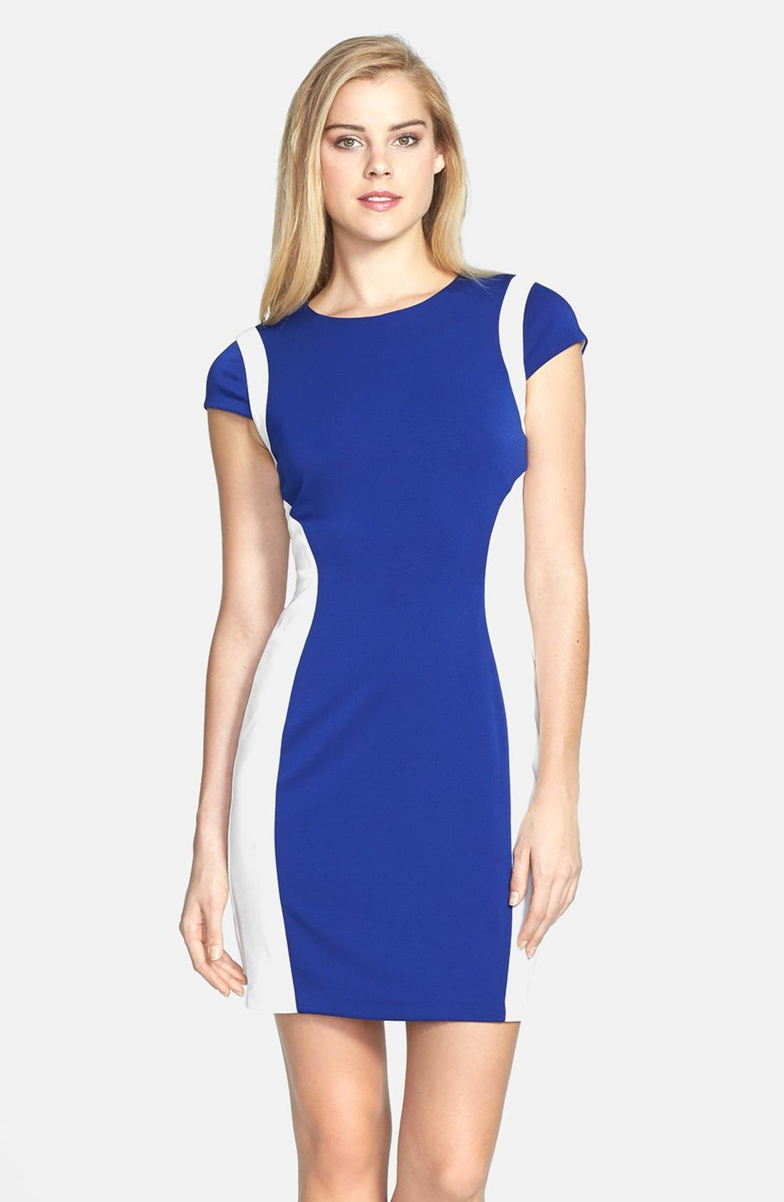 Alternate Image 1 Selected - Ivy & Blu Colorblock Body-Con Dress