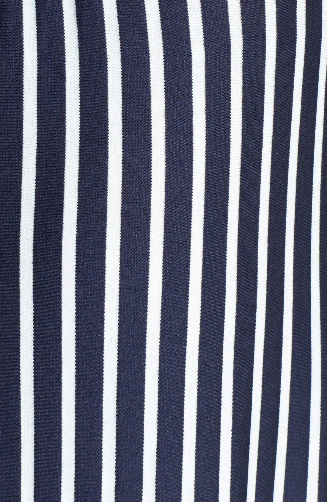 Alternate Image 3  - Loveappella Strapless Twist Back Stripe Maxi Dress (Regular & Petite)