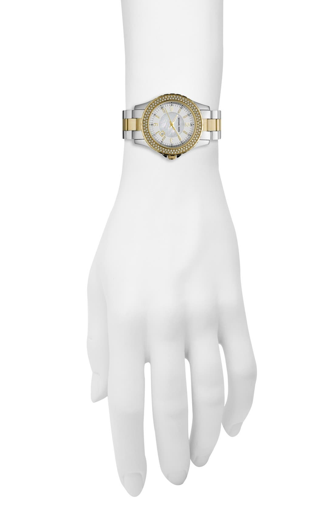 Alternate Image 4  - Michael Kors 'Mini Madison' Twin Row Crystal Watch, 33mm