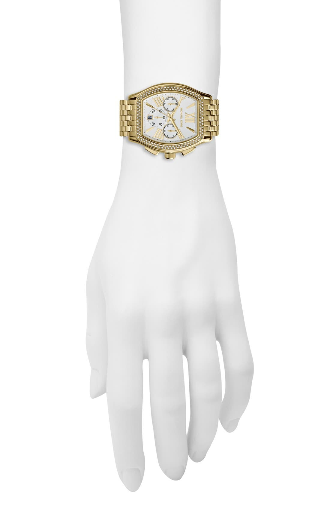 Alternate Image 4  - Michael Kors 'Amherst' Crystal Bezel Chronograph Bracelet Watch, 38mm