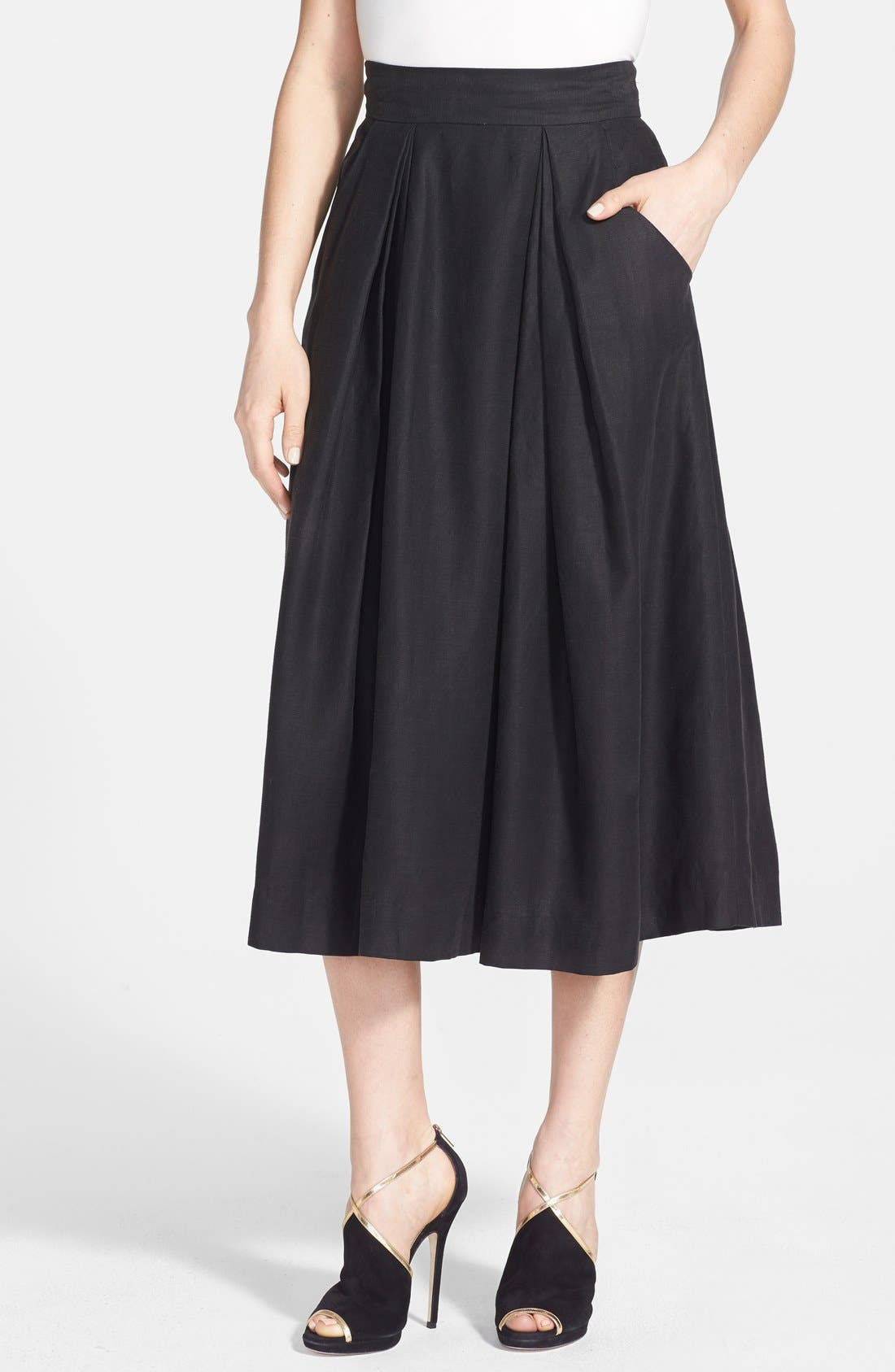 Main Image - Milly 'Katie' Full Midi Skirt