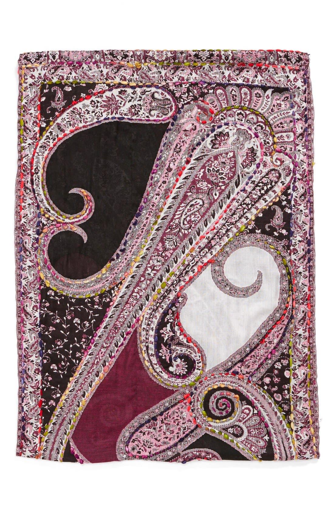 Alternate Image 2  - Raj Imports Embroidered Infinity Scarf