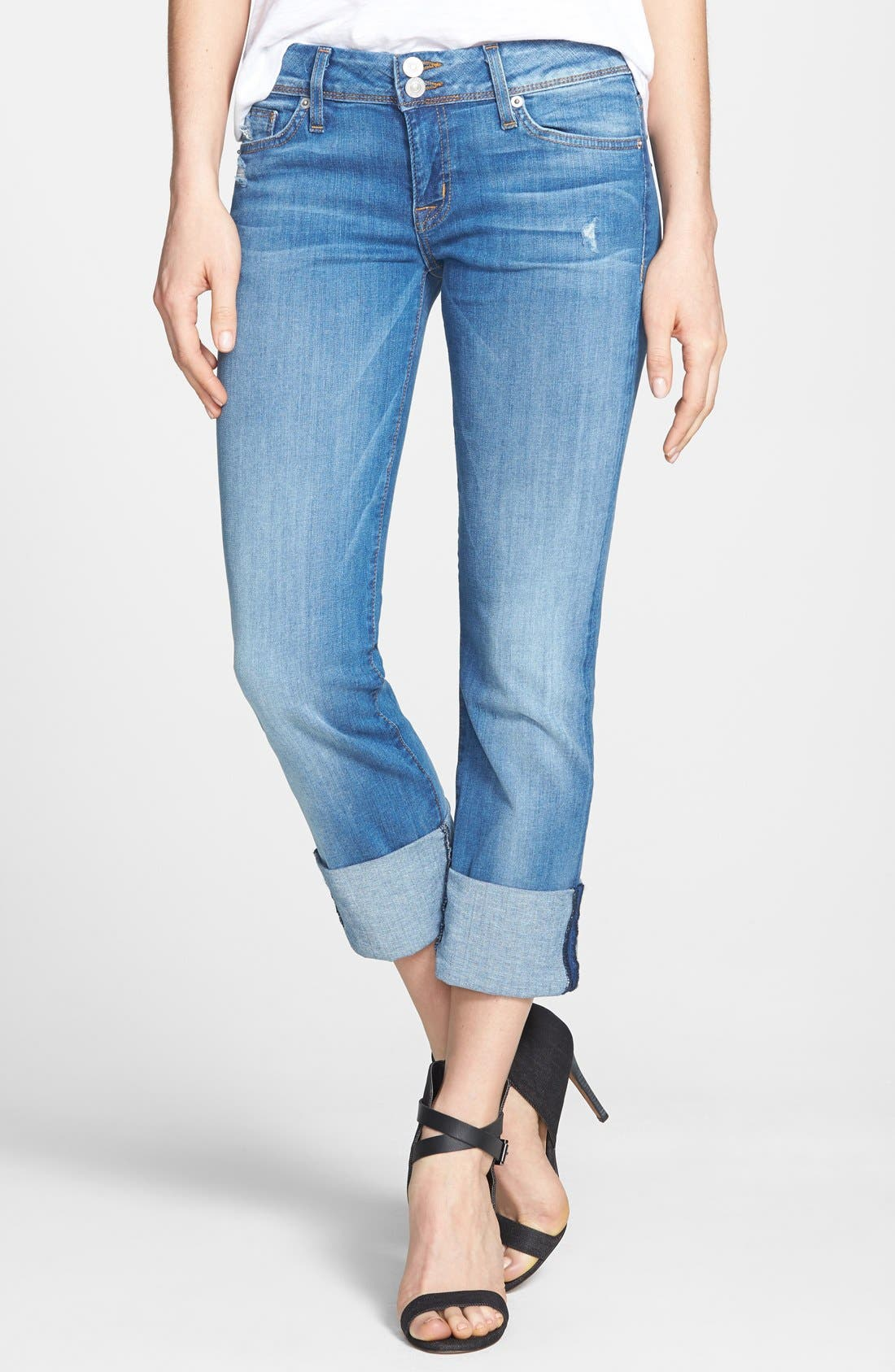 Alternate Image 1 Selected - Hudson Jeans 'Ginny' Crop Jeans (Voodoo Child)