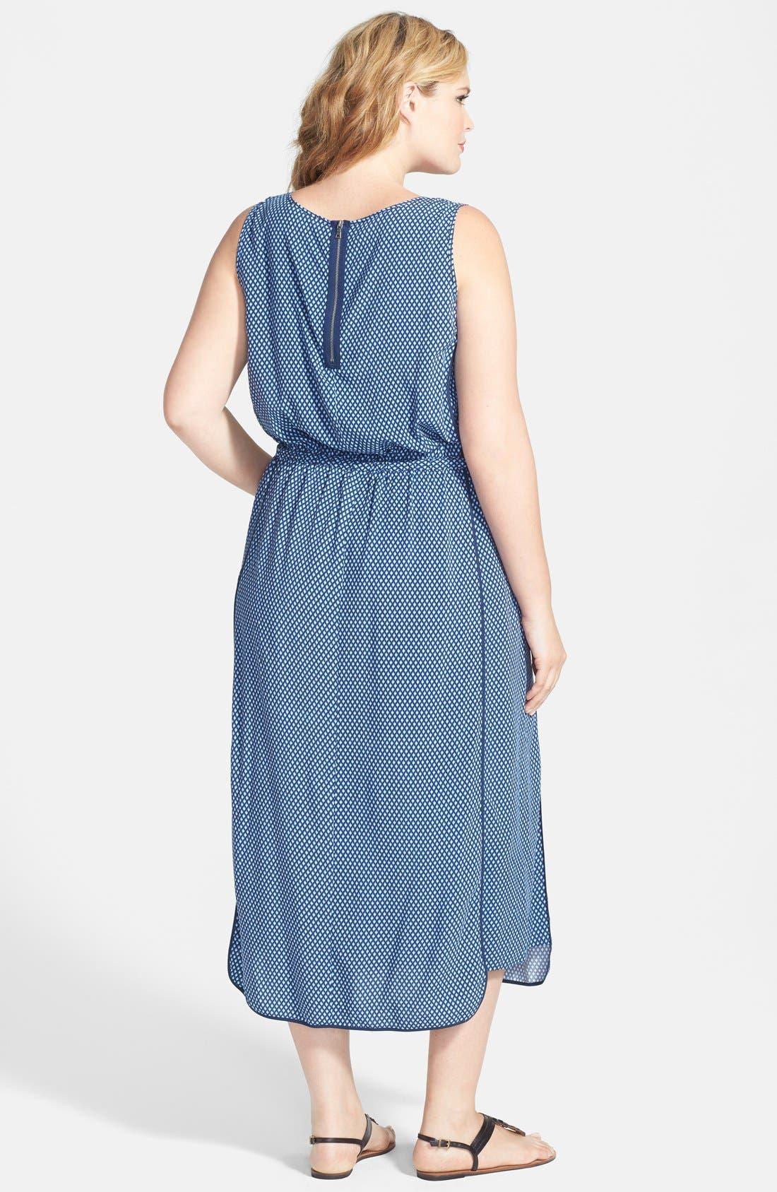 Alternate Image 2  - Two by Vince Camuto 'Stylish Geo' Maxi Dress (Plus Size)