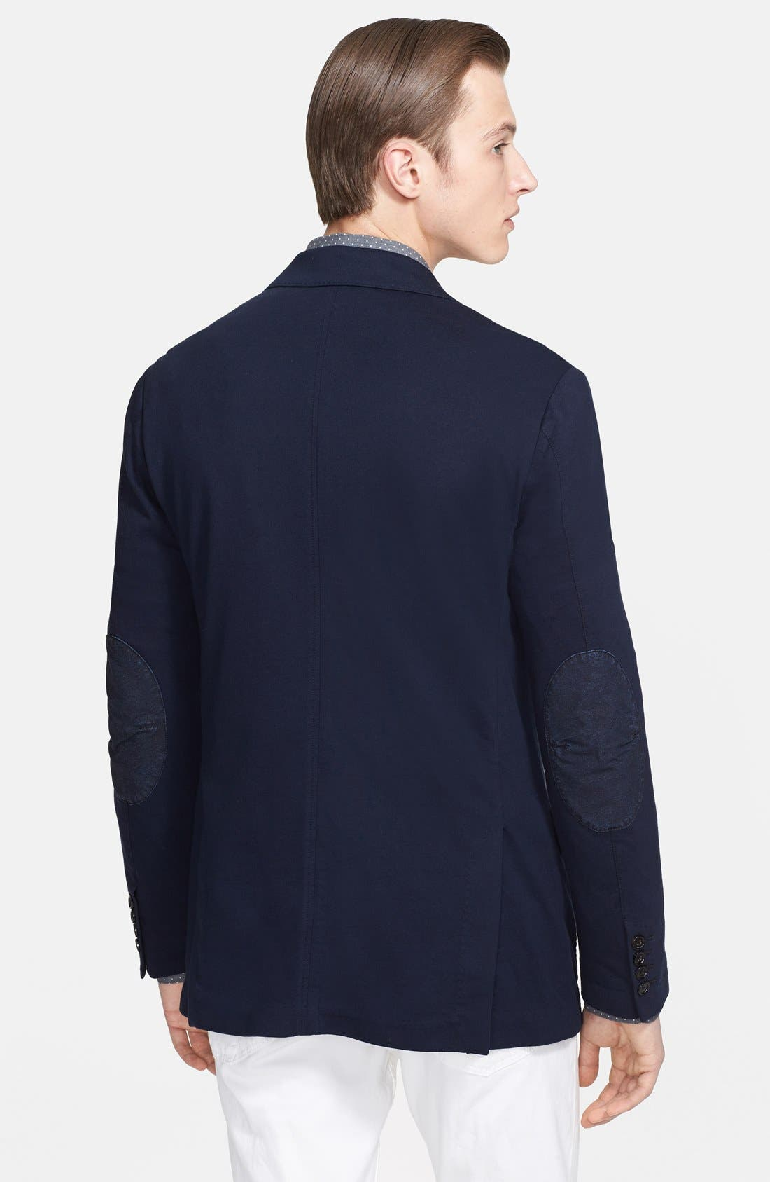 Alternate Image 2  - Ralph Lauren Black Label Jersey Blazer