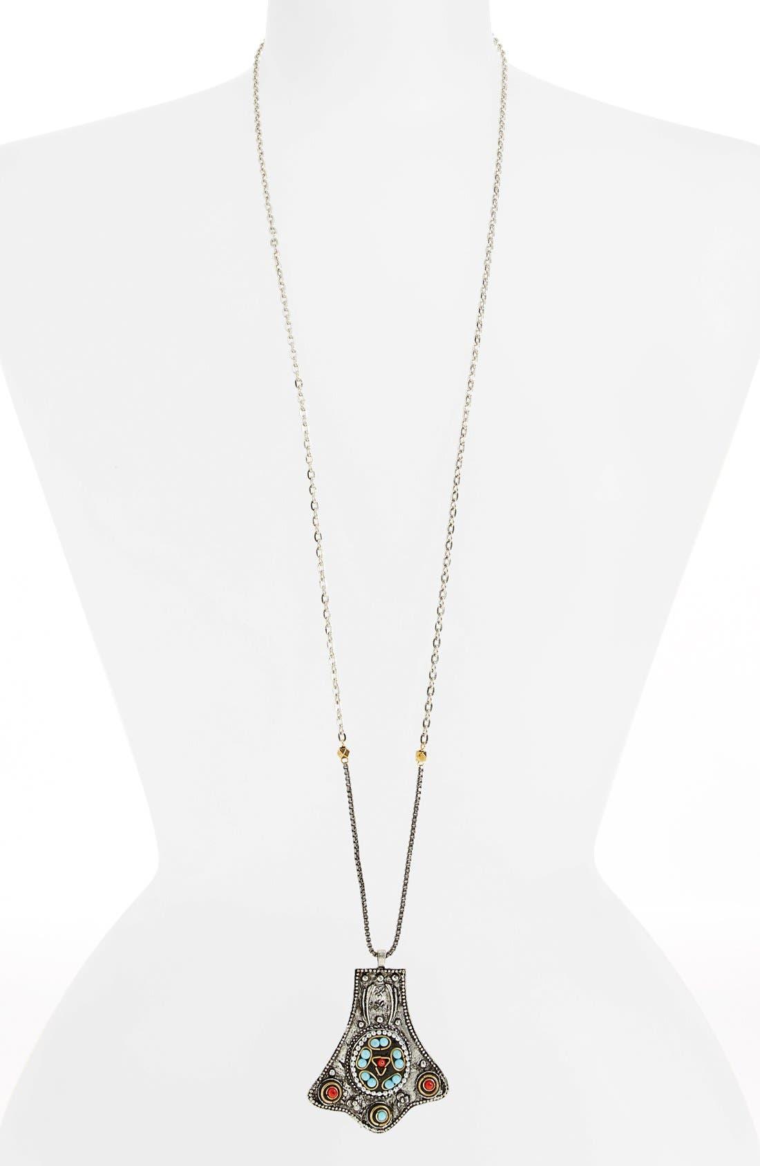 Main Image - Berry Embellished Pendant Necklace