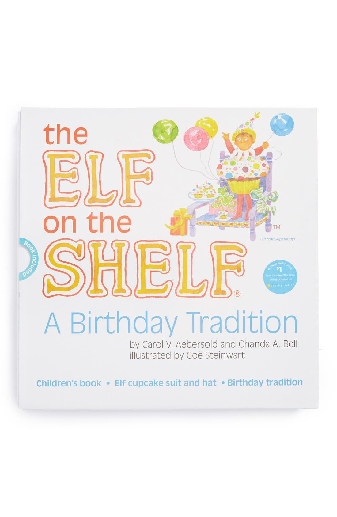 Alternate Image 1 Selected - Elf on the Shelf® 'A Birthday Tradition' Book and Elf Cupcake Suit