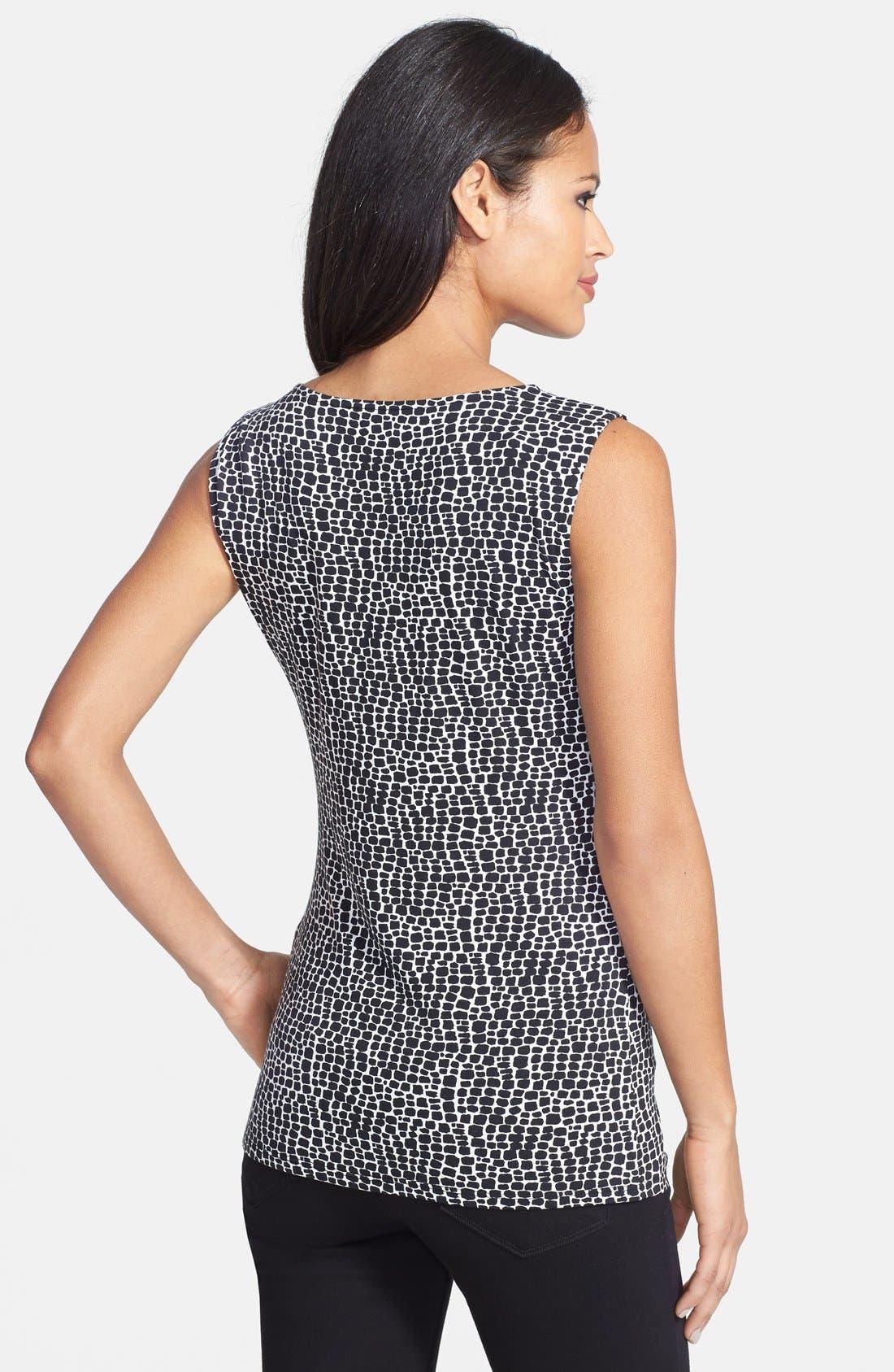 Alternate Image 2  - Classiques Entier® 'Flawless Jersey' Print Drape Neck Top