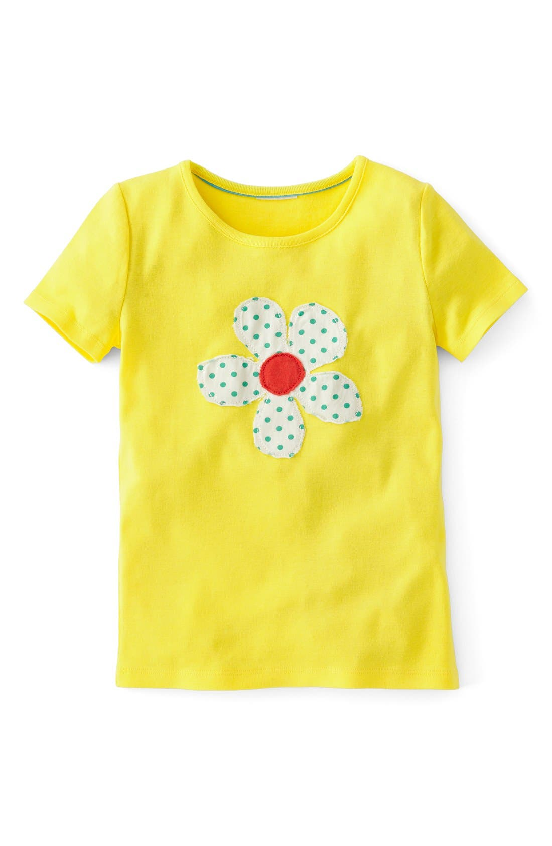 Alternate Image 1 Selected - Mini Boden 'Dotty' Appliqué Tee (Toddler Girls, Little Girls & Big Girls)