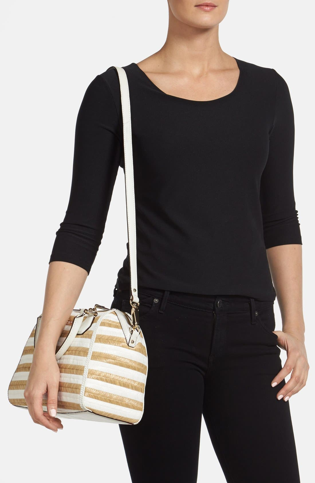 Alternate Image 2  - kate spade new york 'pippa' straw satchel